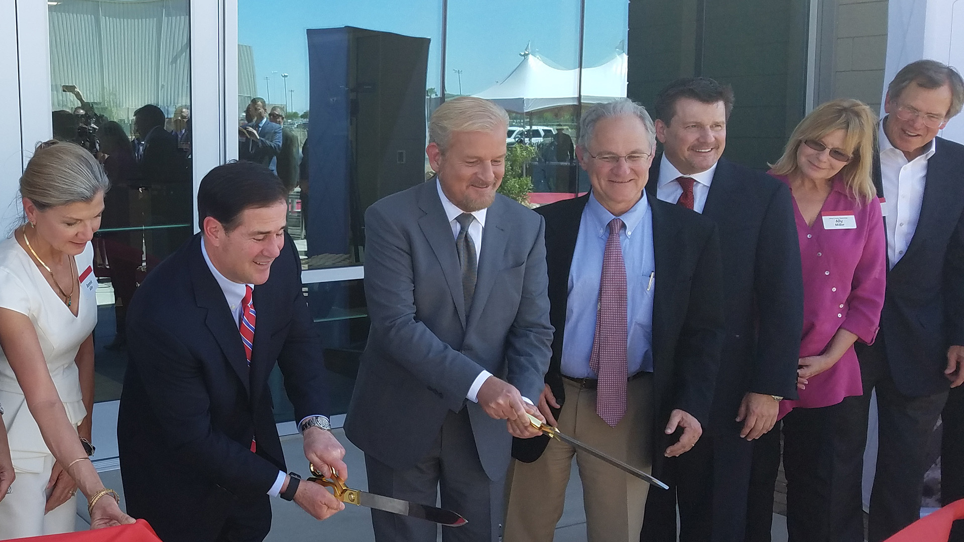 ribbon cutting recentered