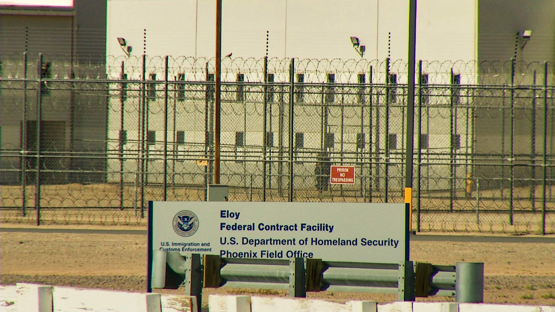 Eloy Detention Center sign