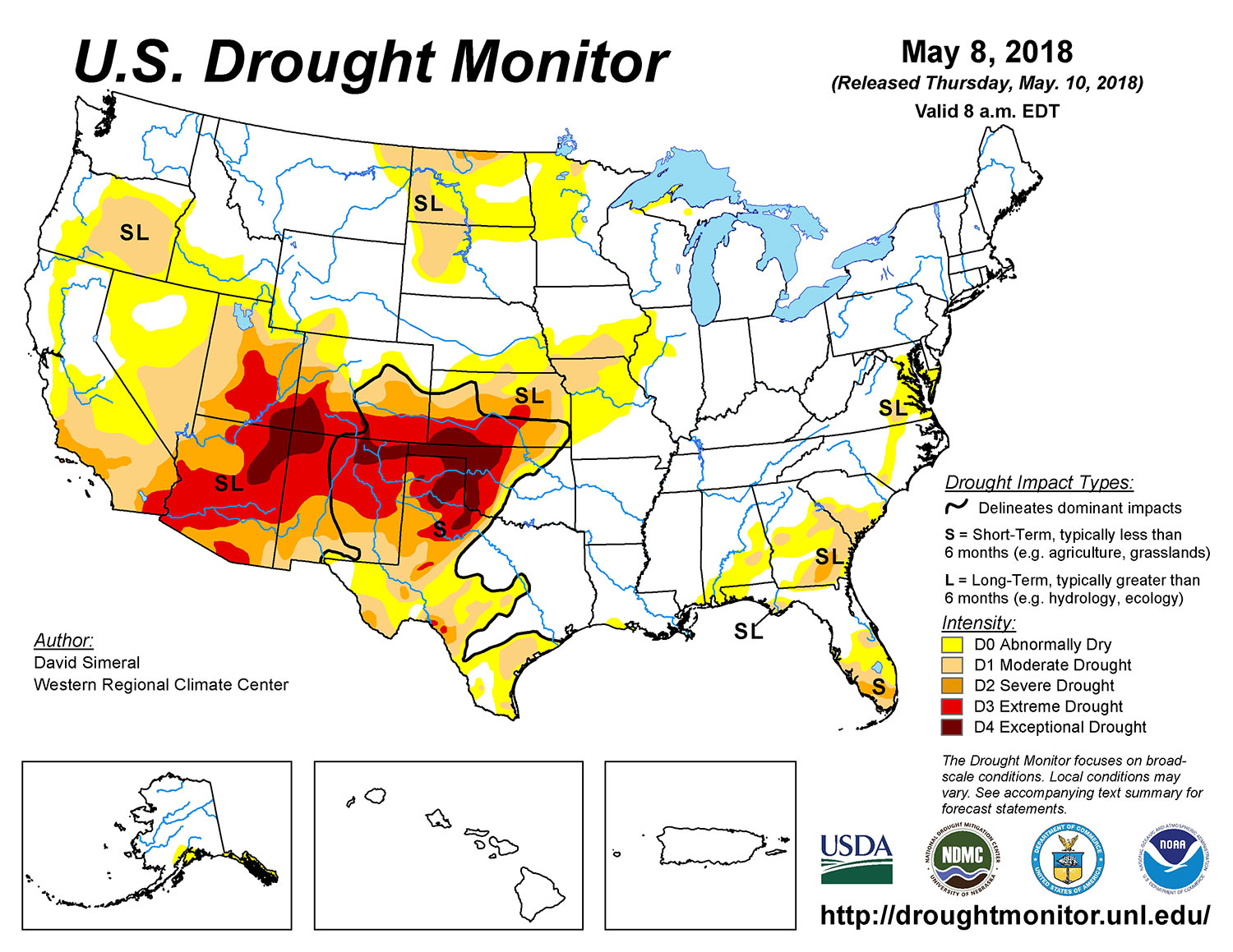 Drought Map May 2018