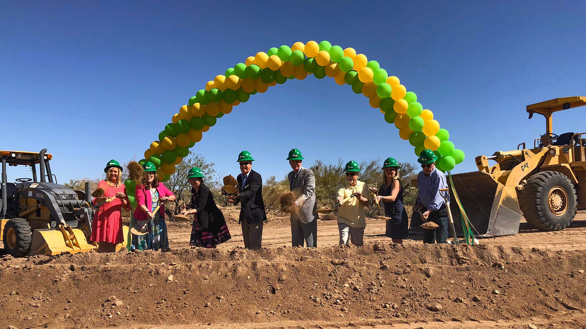 The Marana Unified School District breaks ground on its new K-8 CSTEM school in Dove Mountain.