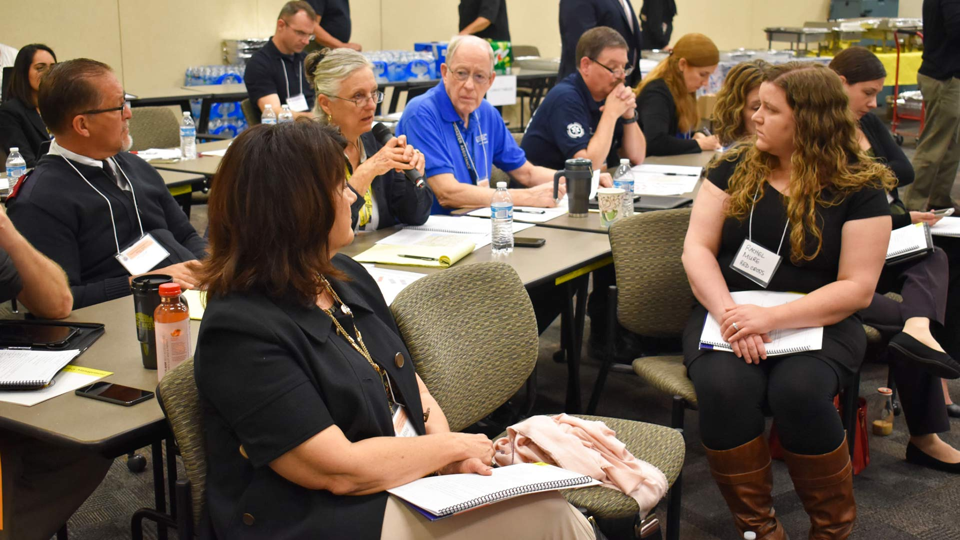 Participants at a National Mass Care Tabletop Exercise, on Feb. 13, 2018, an event put on for Arizona groups in preparation for the National Mass Care Exercise, according to the Arizona Department of Emergency and Military Affairs (DEMA).