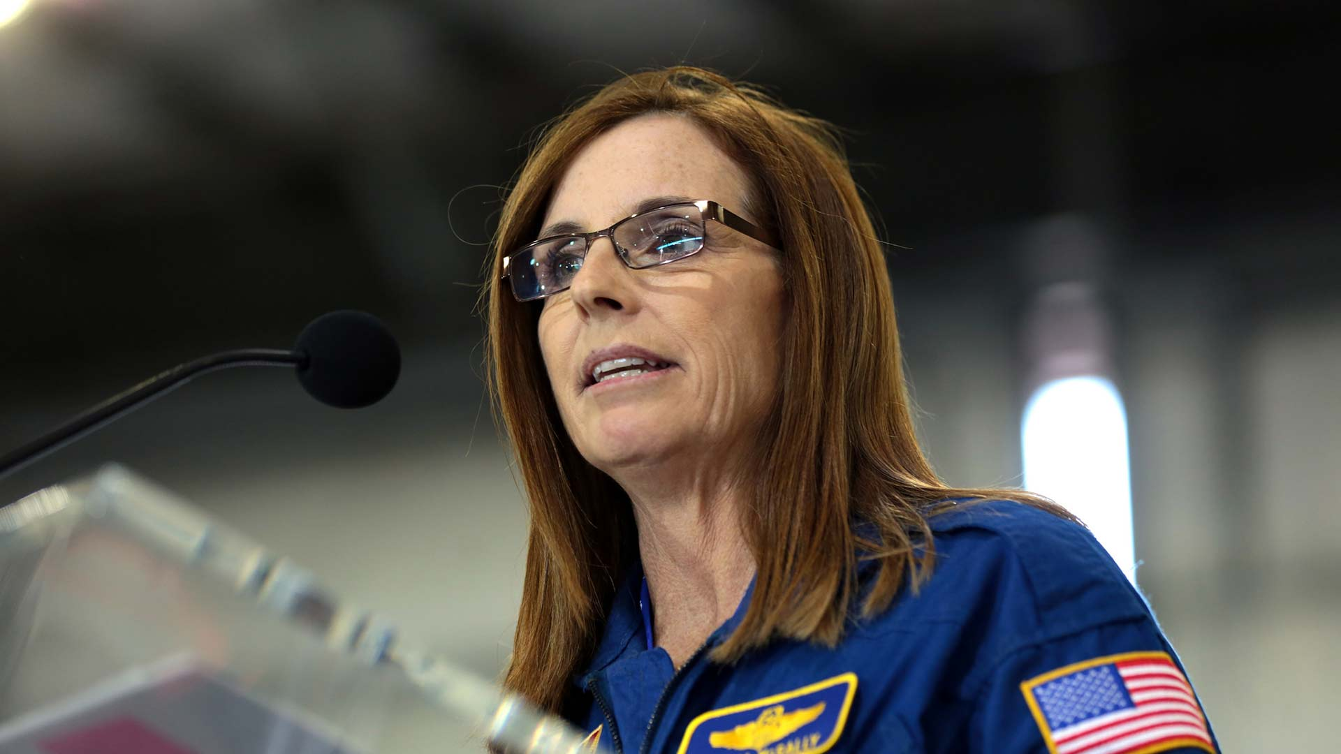 Martha McSally in Phoenix for the announcement of her candidacy for U.S. Senate, Jan. 12, 2018.