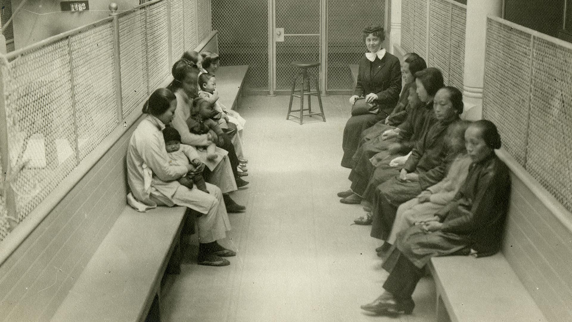 Women detainees at Angel Island.
