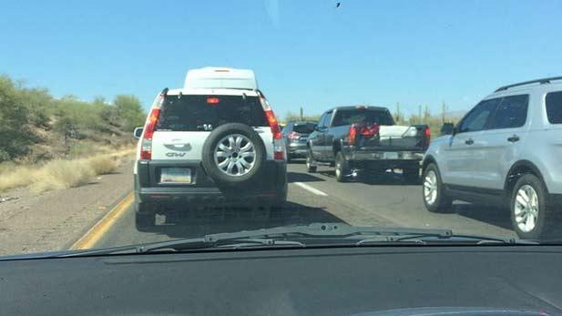 I-17 traffic jam spotlight