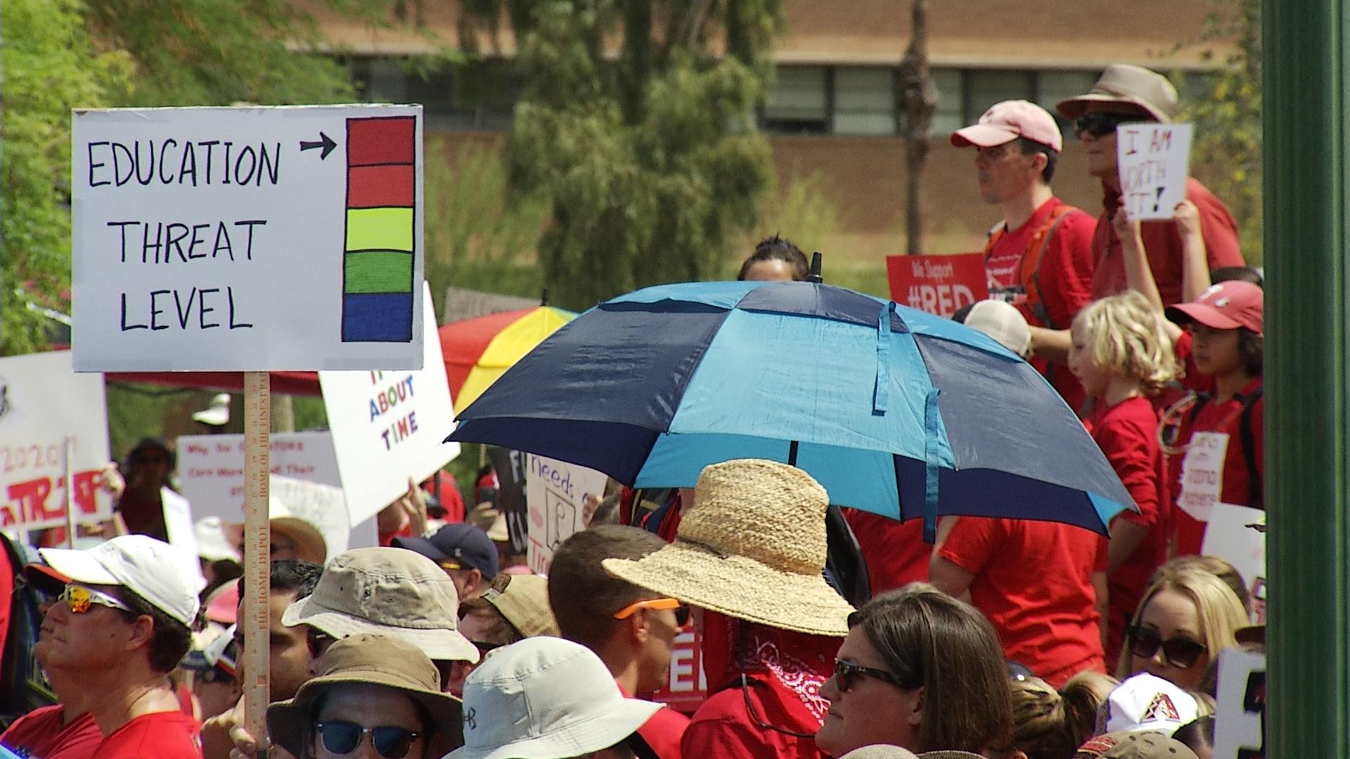 #RedForEd protestors at the Arizona Capitol, Monday, April 30.