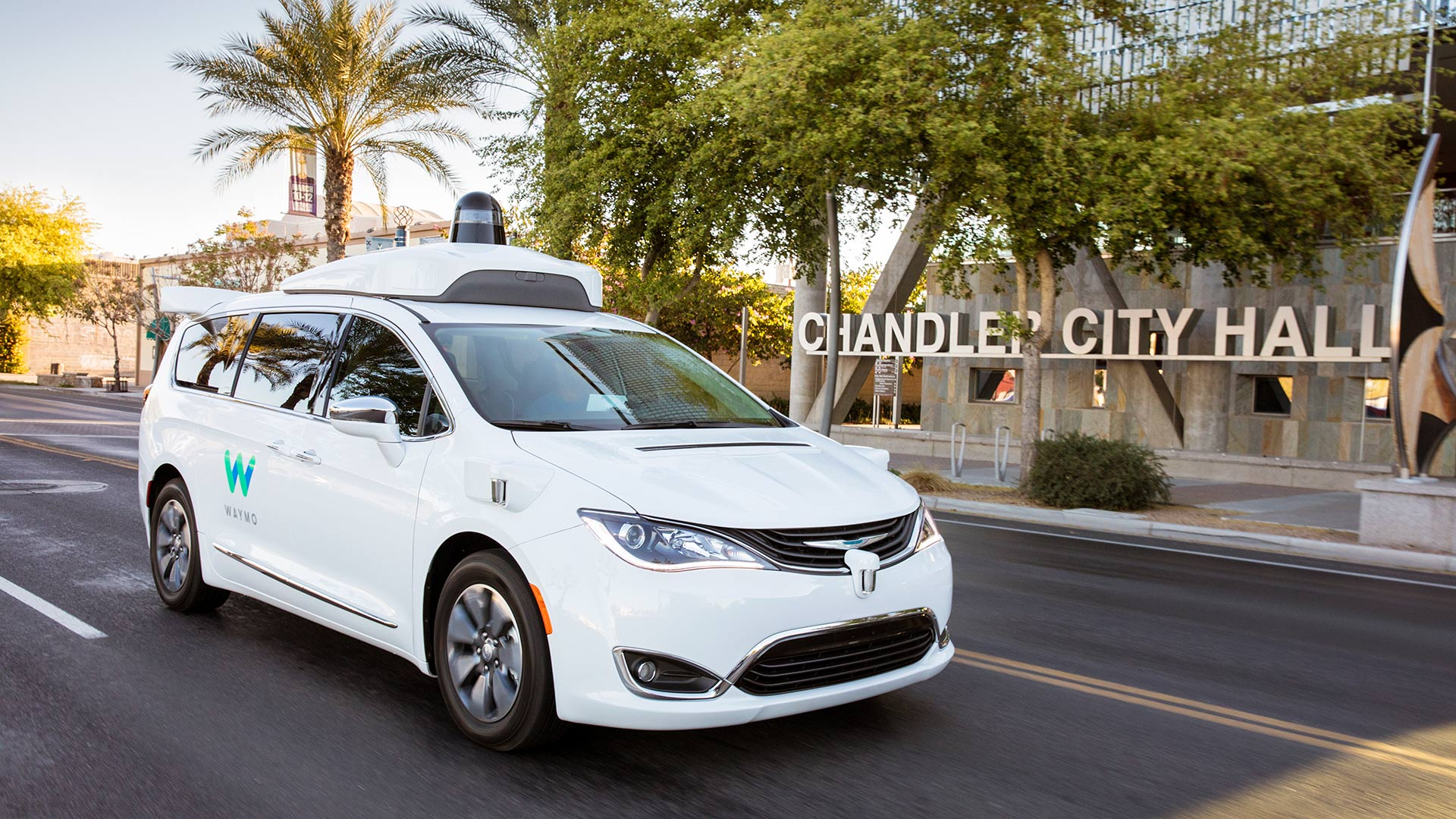 A Waymo self-driving vehicle in Chandler, Arizona.