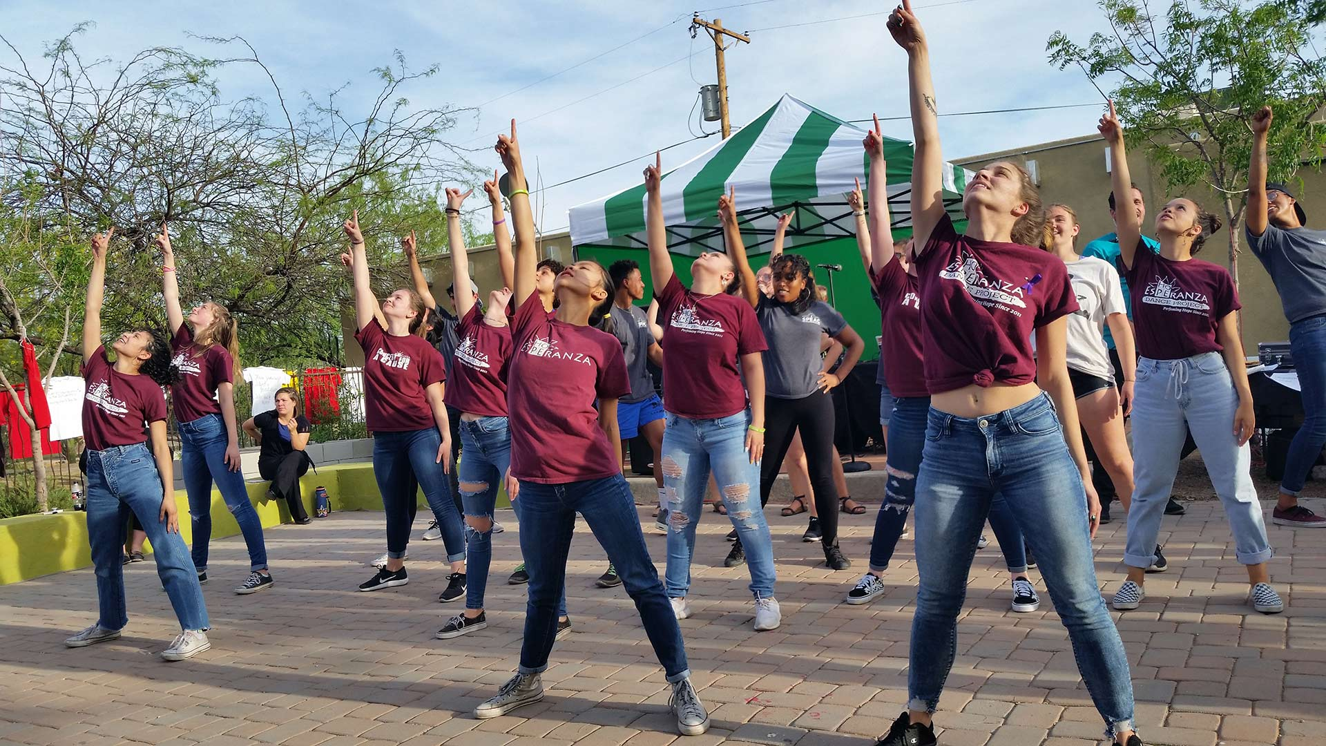 "The Esperanza Dance Project perform at the 2018 ""Take Back the Night"" event in Tucson."