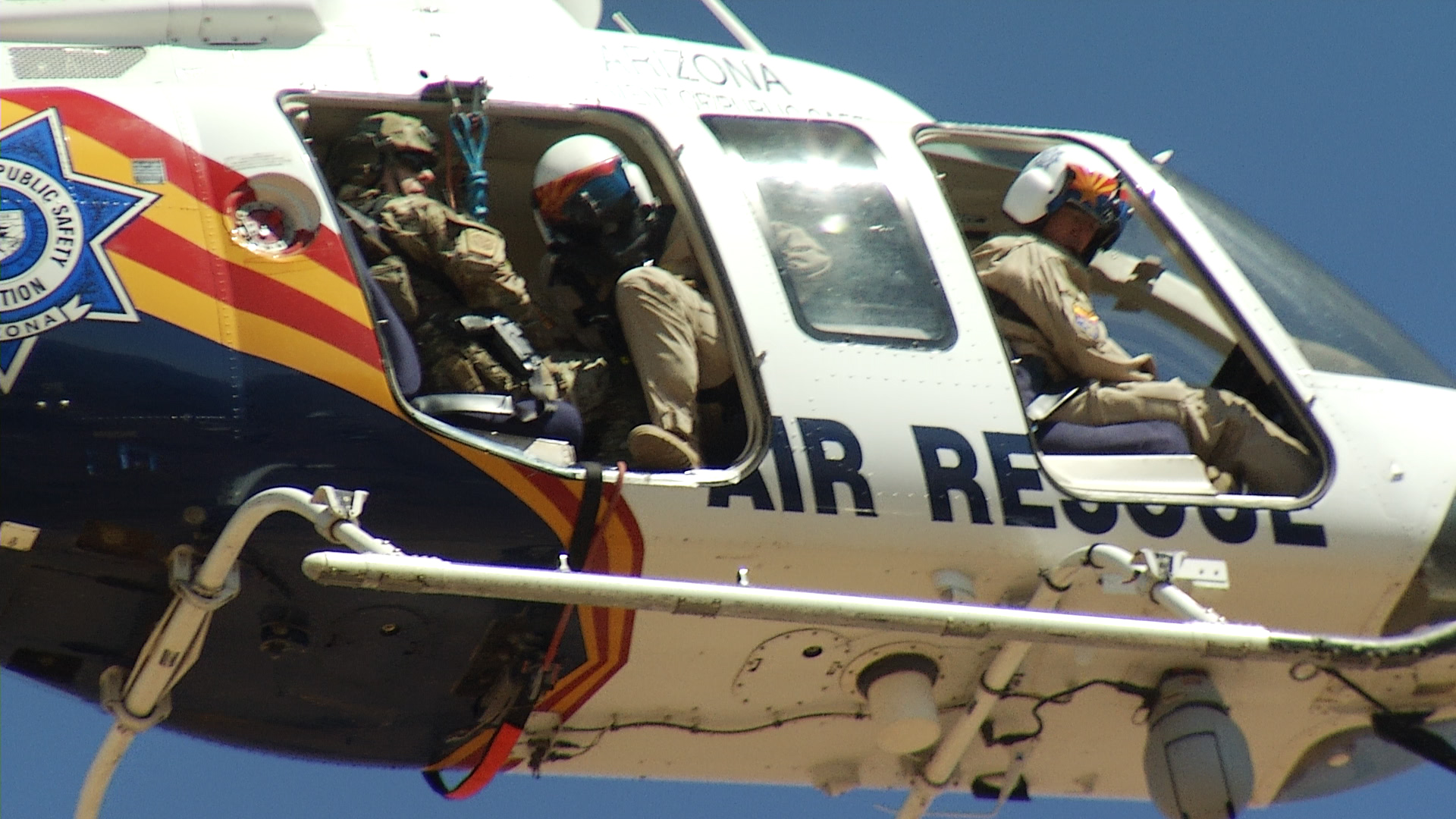 A joint, simulated rescue by Border Patrol and DPS, May 4, 2018.