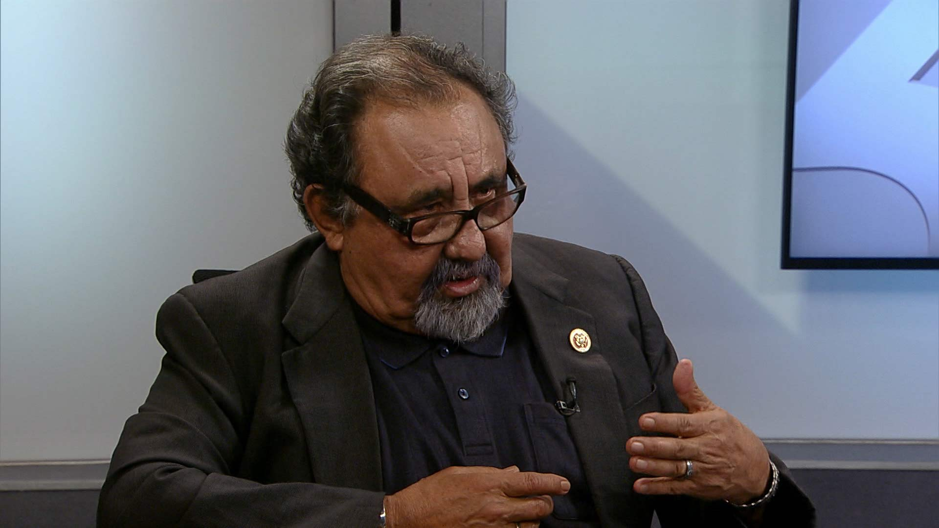 U.S. Rep. Raúl Grijalva speaks to Arizona Public Media, June 2018.