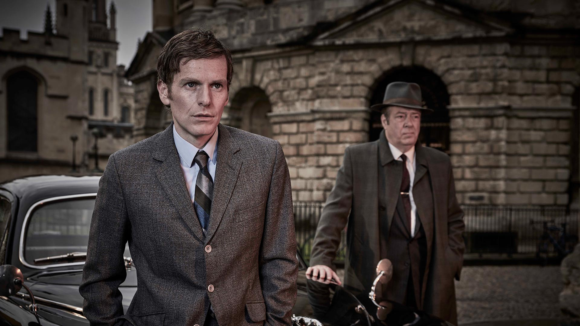 Detective Sergeant Endeavour Morse and Detective Chief Inspector Fred Thursday