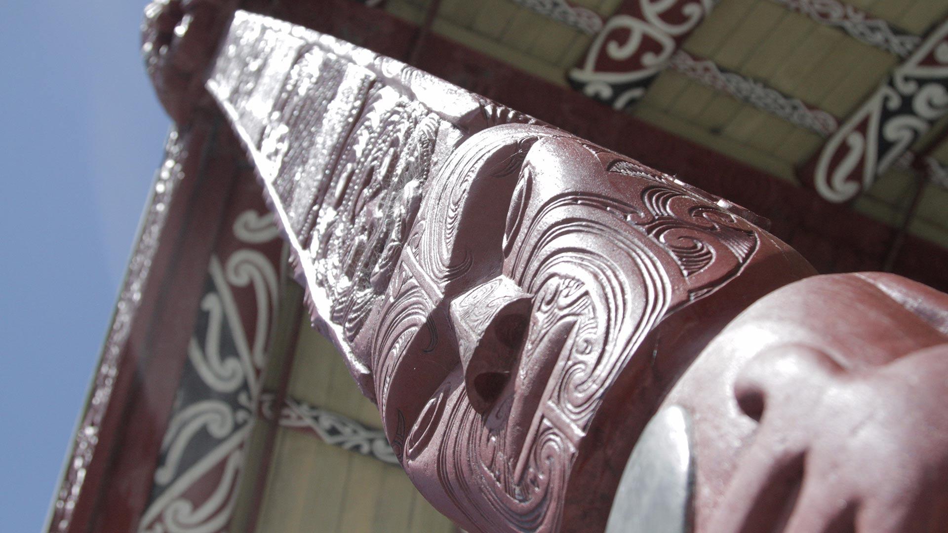 'Te Tokanganui a Noho' 1873 meeting house, Te Kuiti, New Zealand.