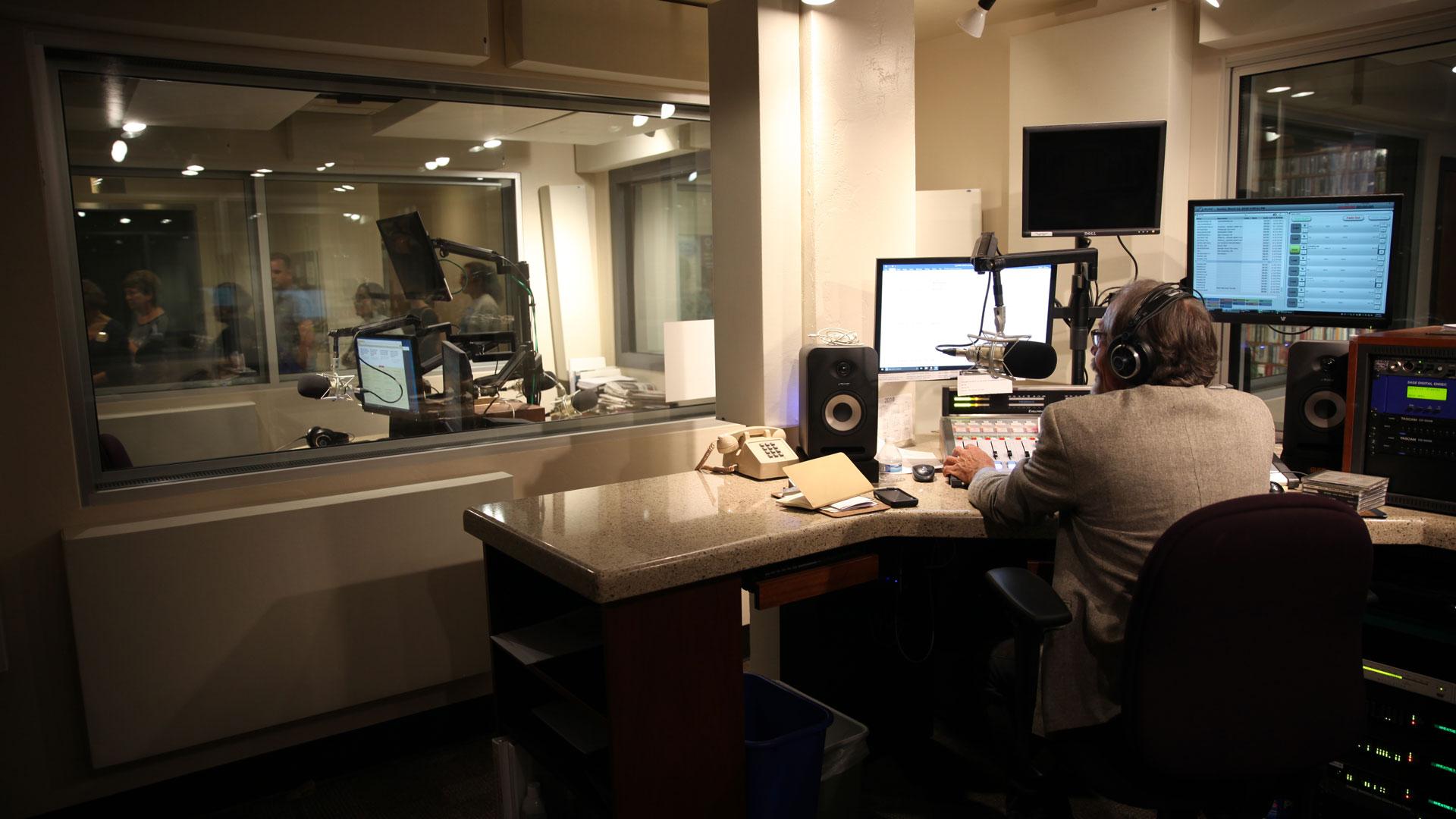 AZPM radio booth
