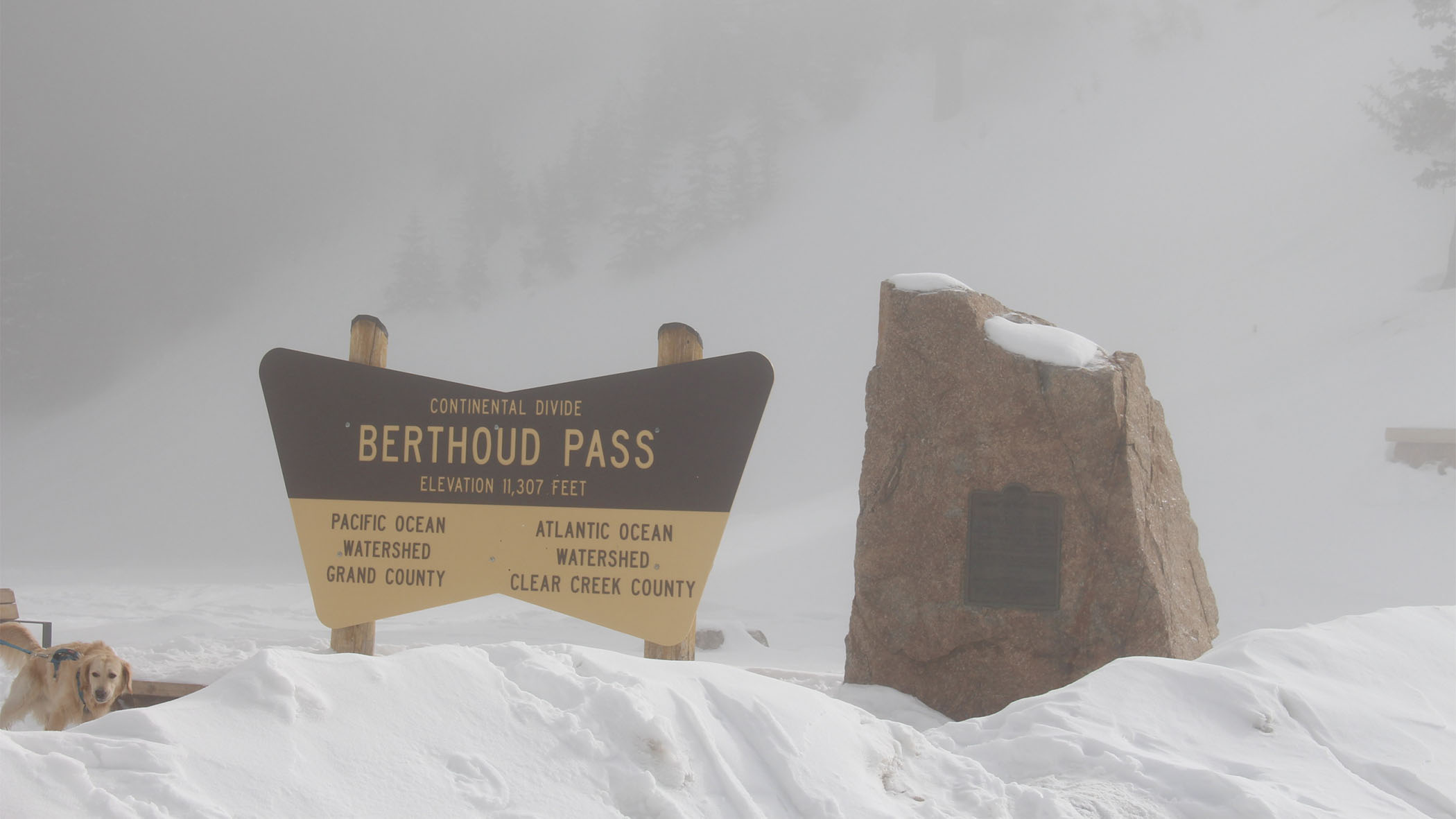 Snow accumulates at Berthoud Pass near the Colorado River headwaters in January 2018. The 2017-2018 winter was one of the driest on record for the southern Rocky Mountains.