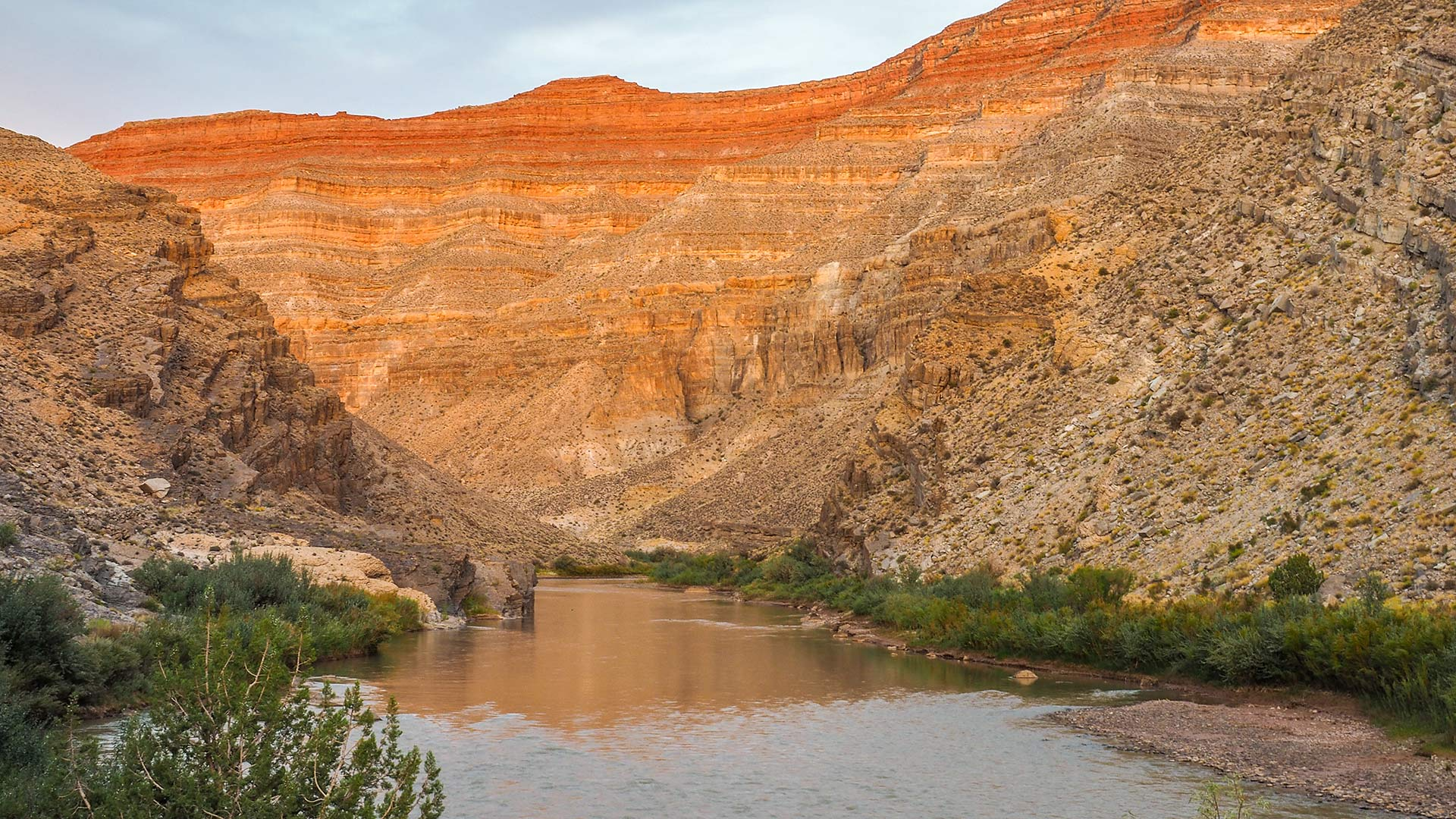A canyon of the San Juan River.