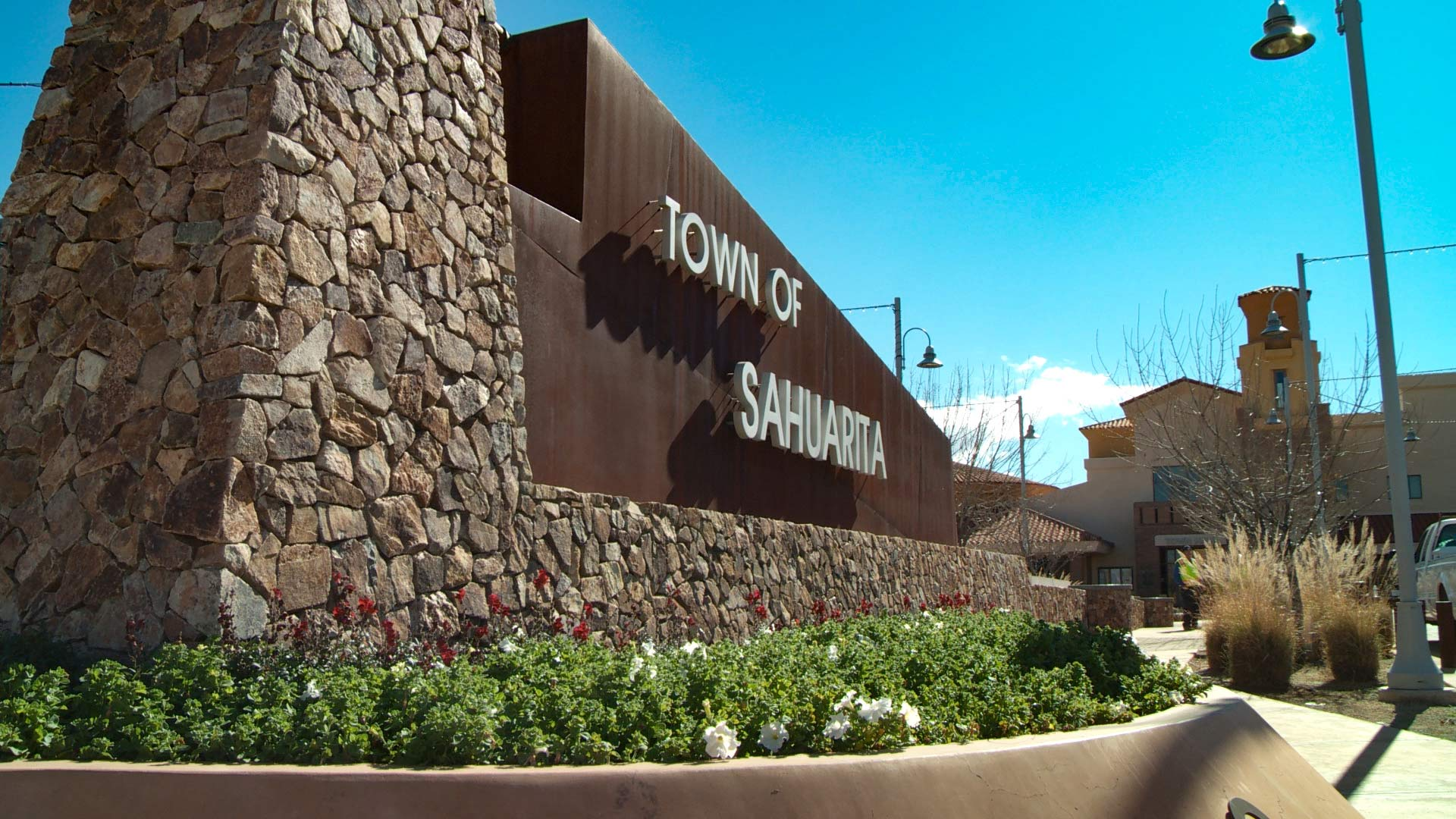Sign of the town of Sahuarita.