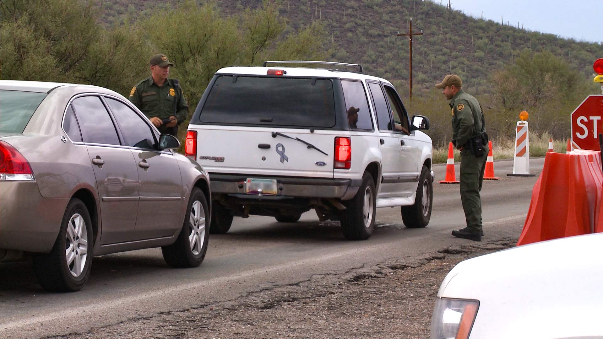 A Border Patrol checkpoint in Southern Arizona.