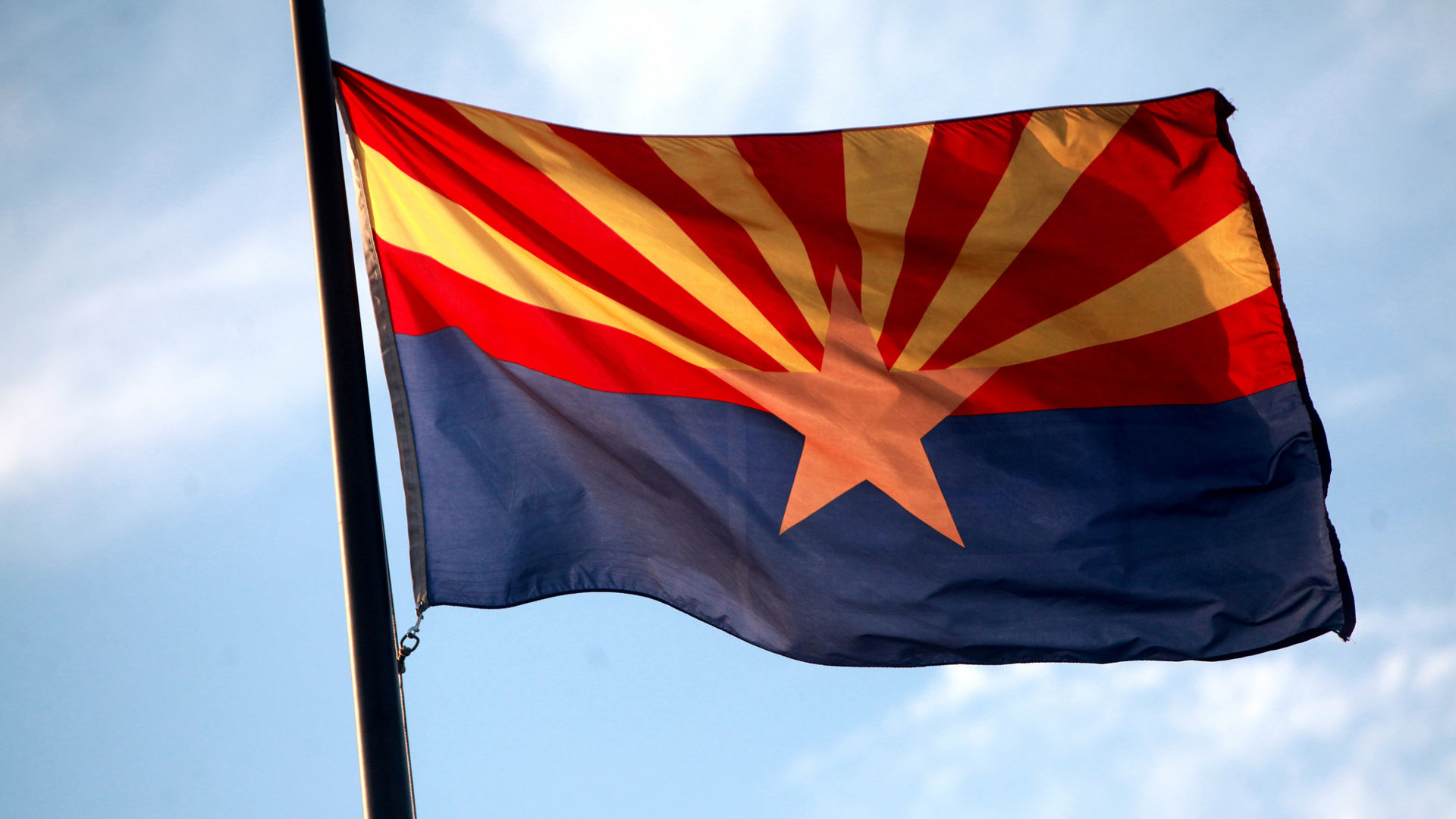 Arizona Flag outside hero