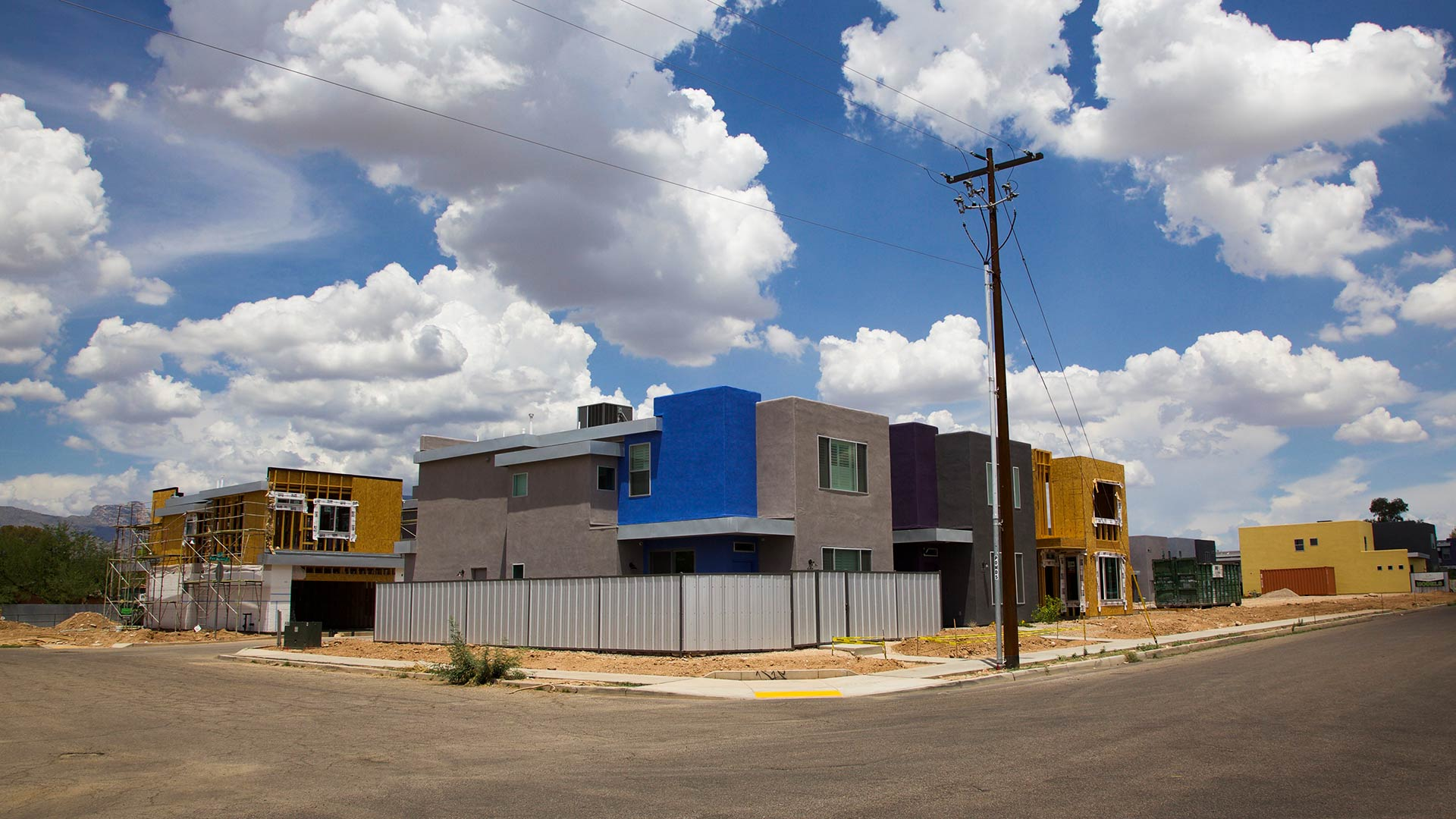 Housing units going in near First and Fort Lowell in Tucson, July 2018.