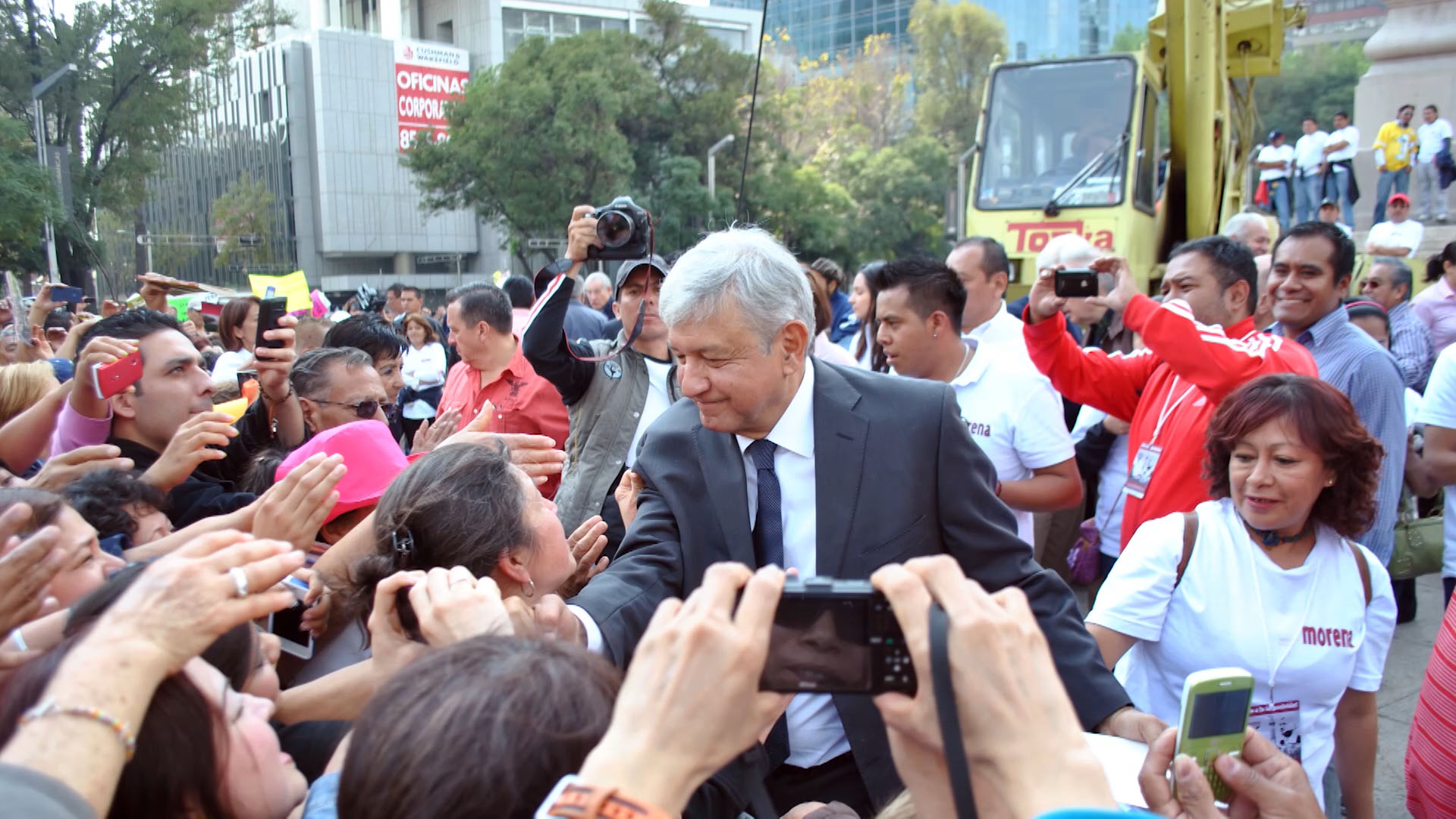 Andrés Manuel López Obrador at a rally in December 2012.