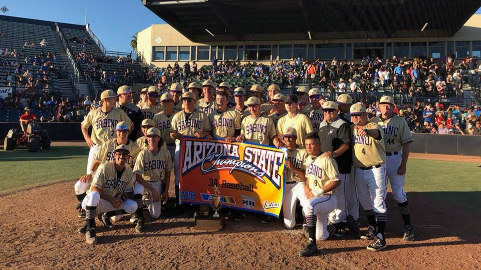 Sabino High School's 2018 Varsity Baseball team had a come from behind victory to become the 2018 3A Baseball State Champions.