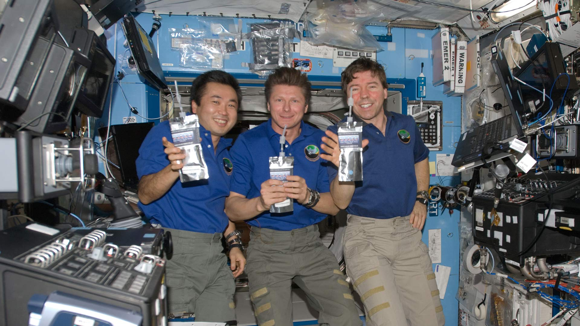 Astronauts Drinking Water