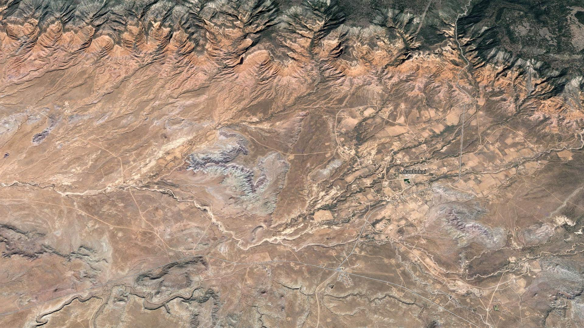 Google Maps view of Lukachukai, Arizona.