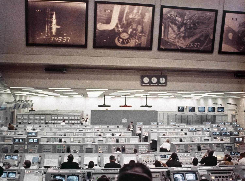 Nasa Control Apollo 8 view larger