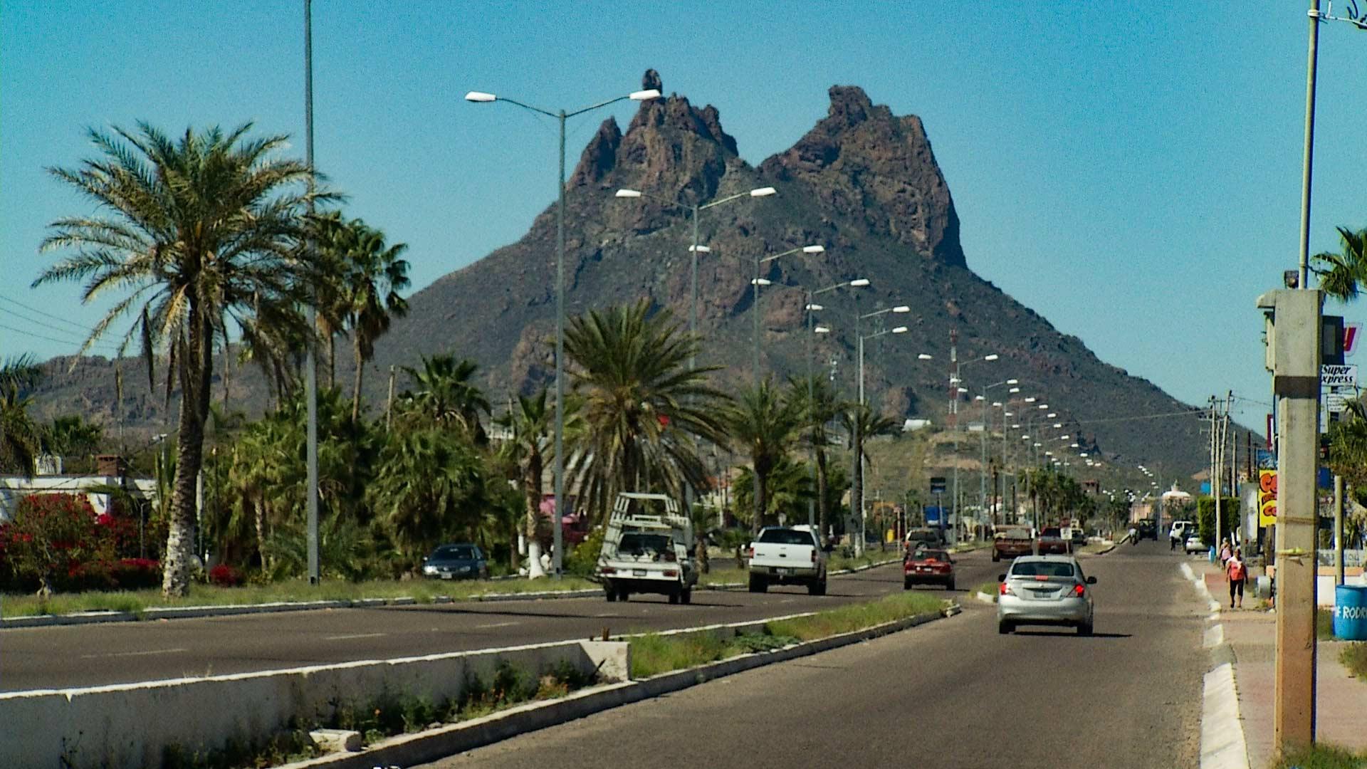 A street in San Carlos, Sonora.