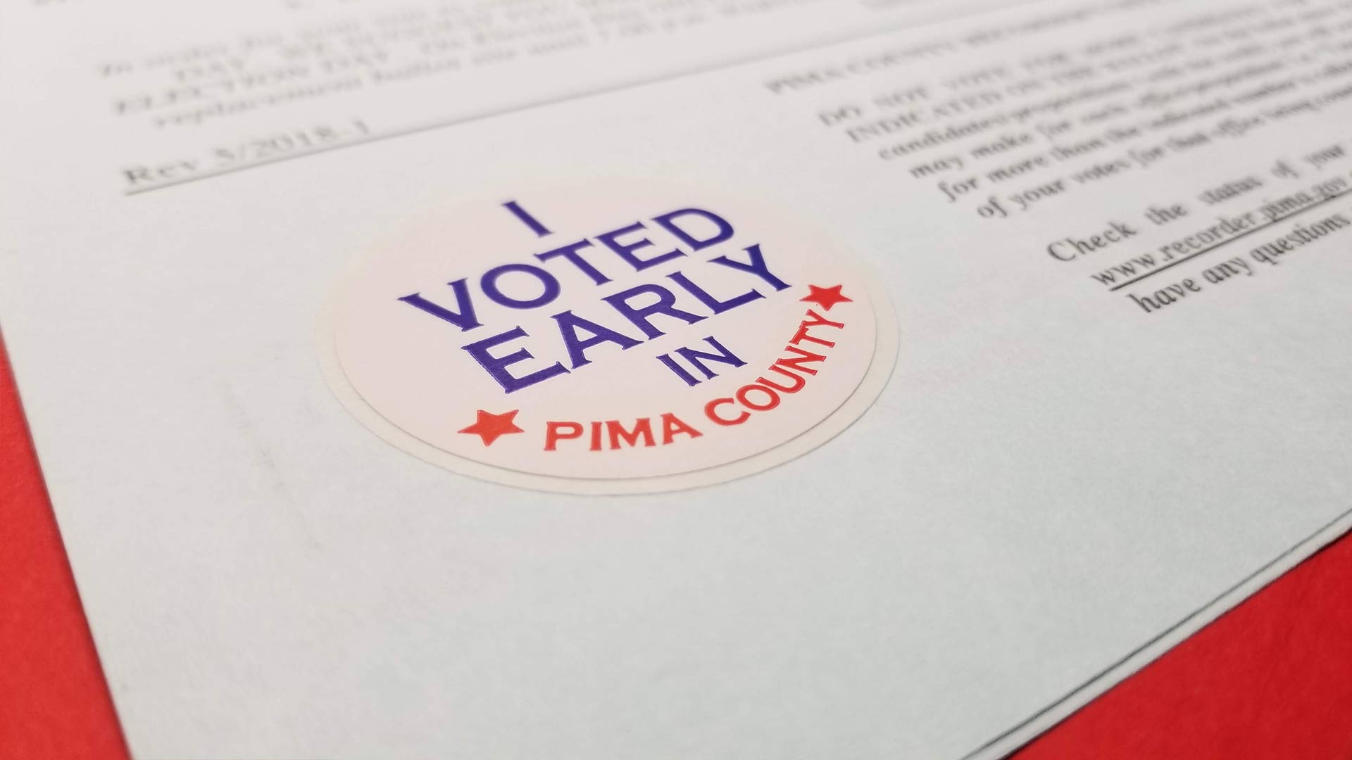 I Voted Early Pima County button