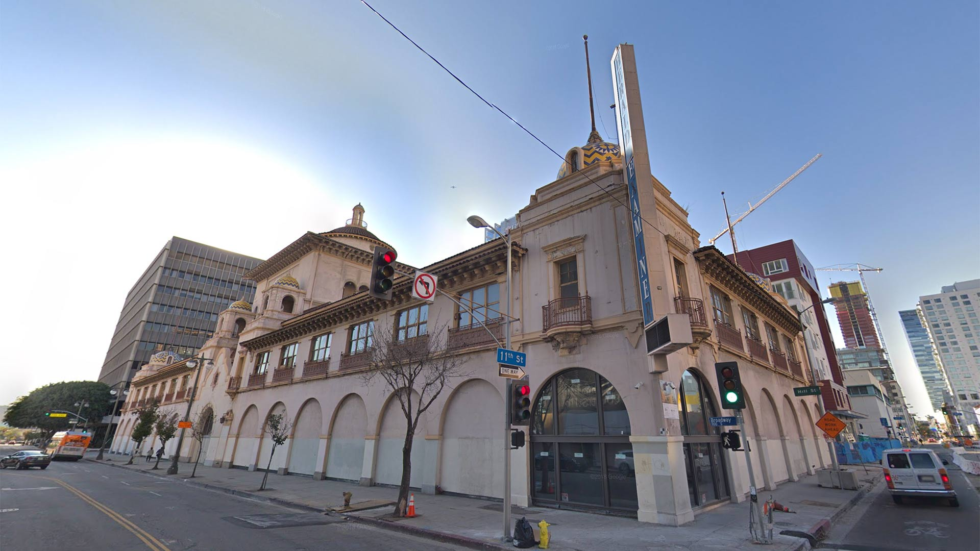 Google Street View image of the Los Angeles Herald Examiner Building.
