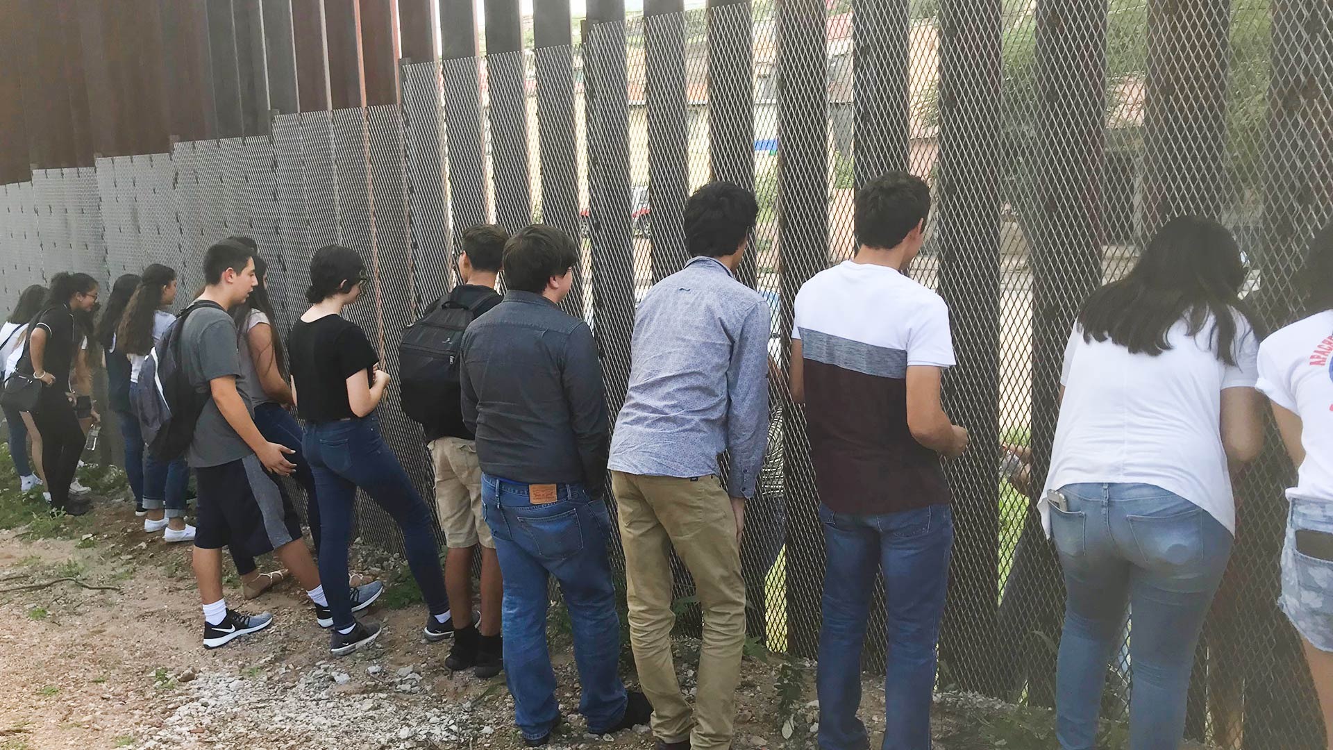 "Teens on the Nogales, Arizona, side of the border fence get to know young people on the Mexican side for a project called ""Beyond the Wall,"" Aug. 25, 2018."