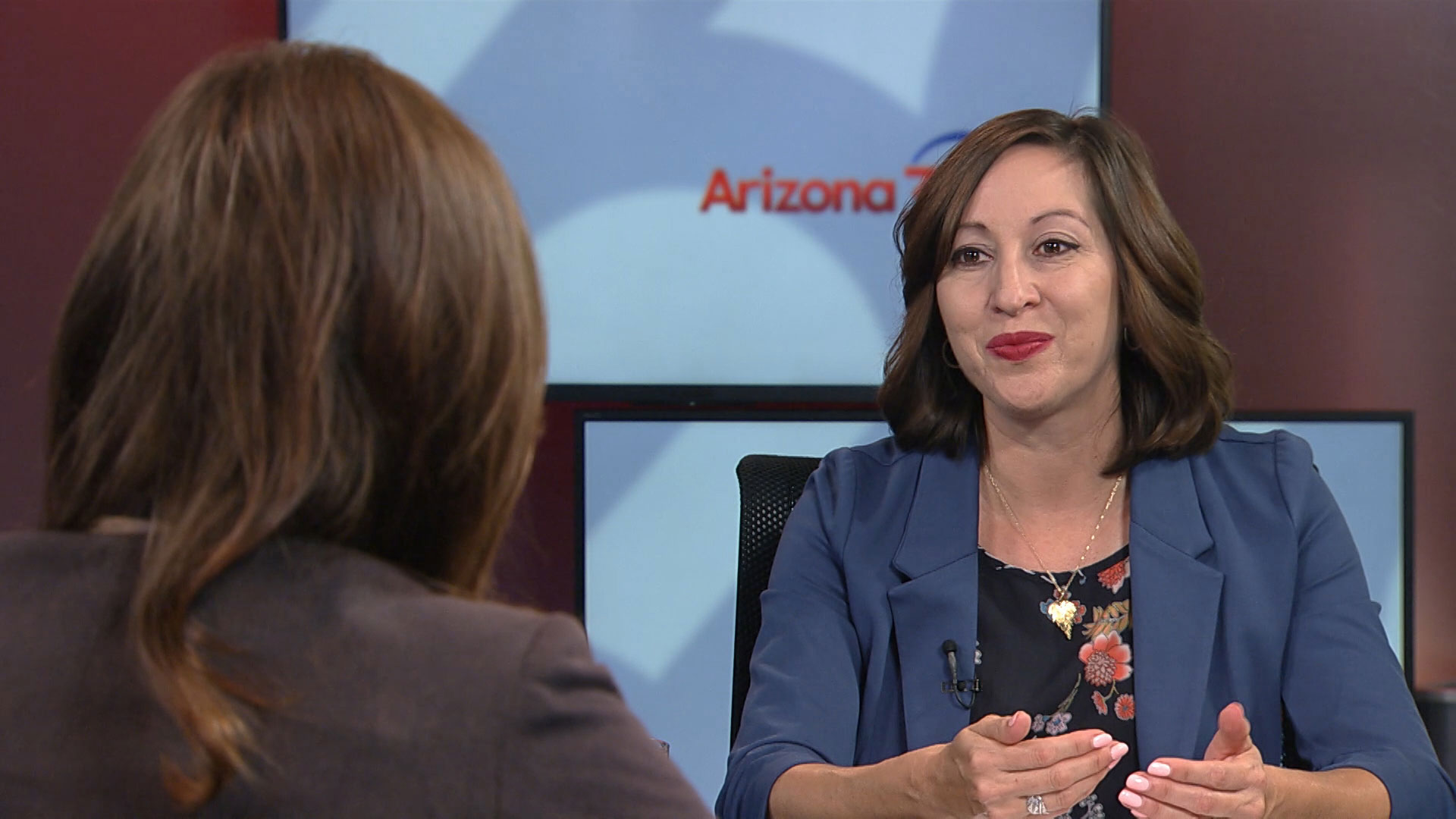 Andrea Romero, director of the Frances McClelland Institute for Children, Youth and Families, in Arizona 360's studio.