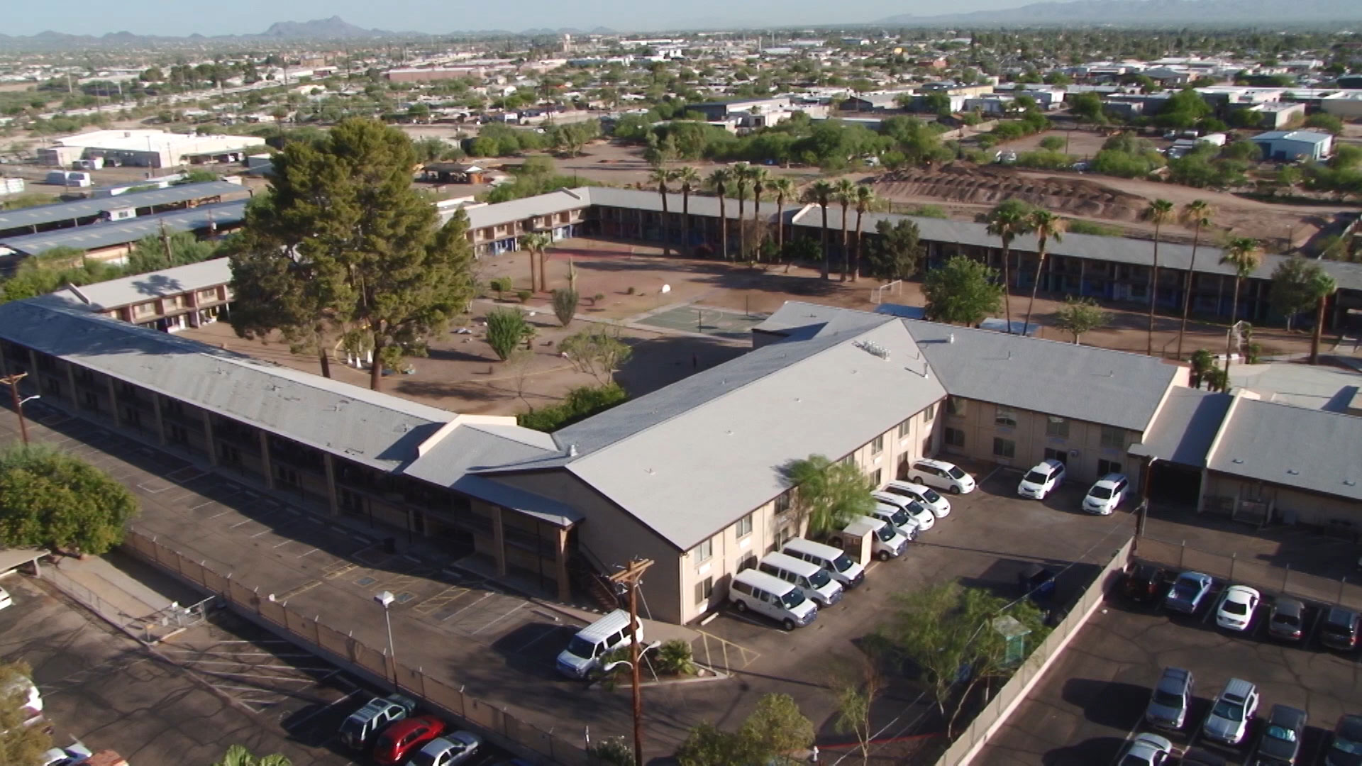 A view of Southwest Key's facility in Tucson.