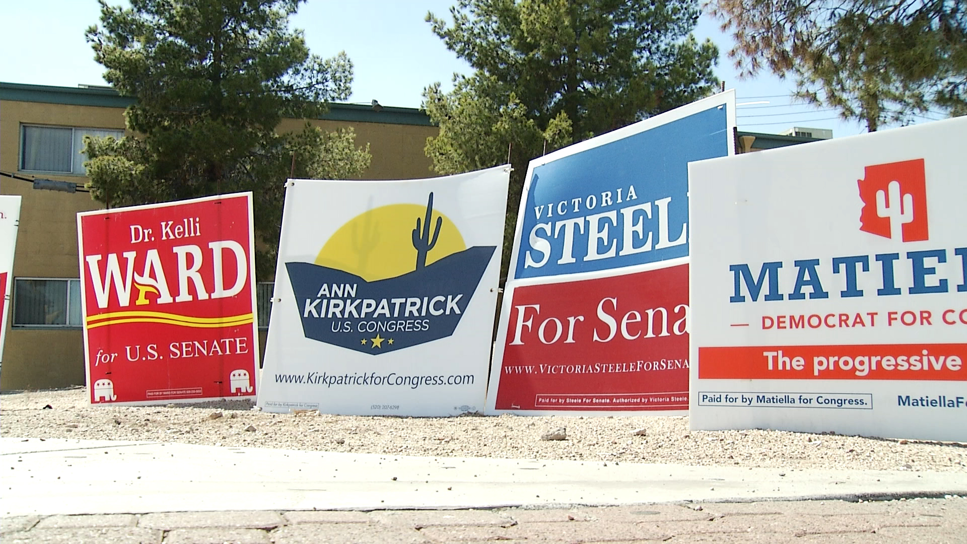 Election signs in Phoenix
