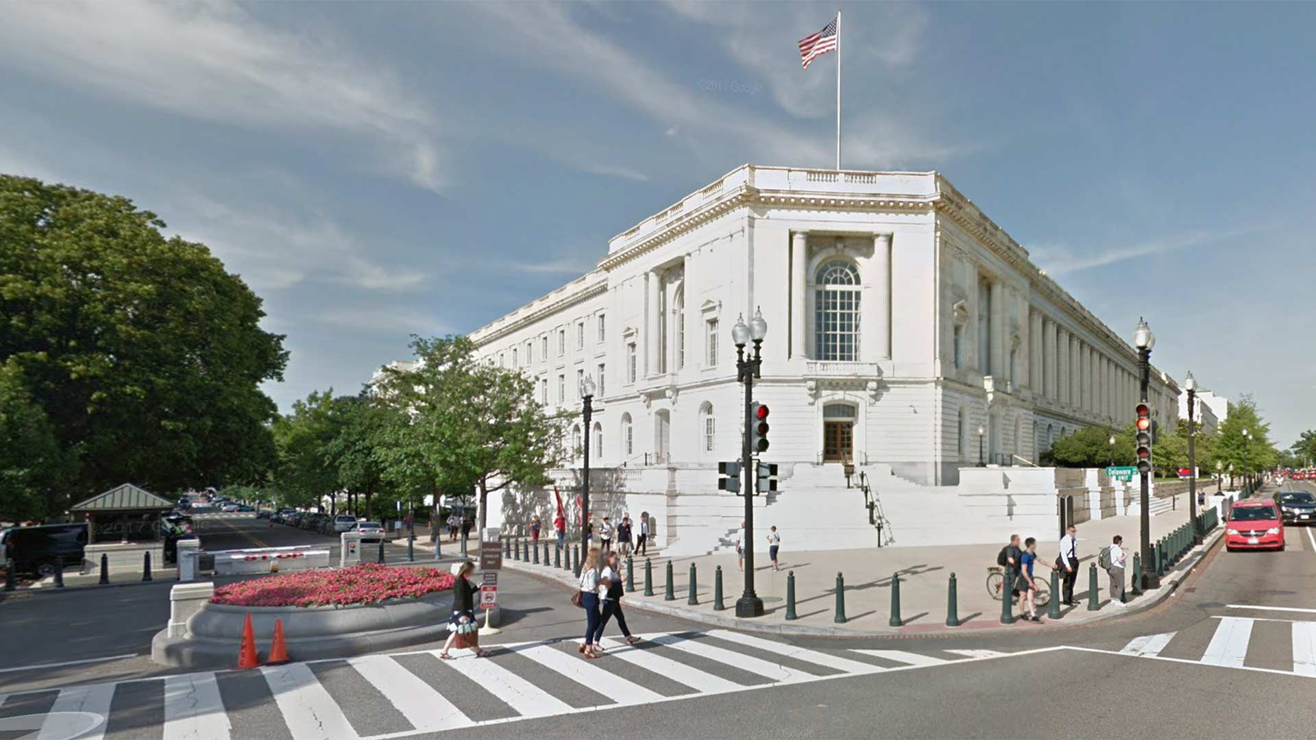 Google Streetview of the Russell Senate Office Building in Washington, D.C.
