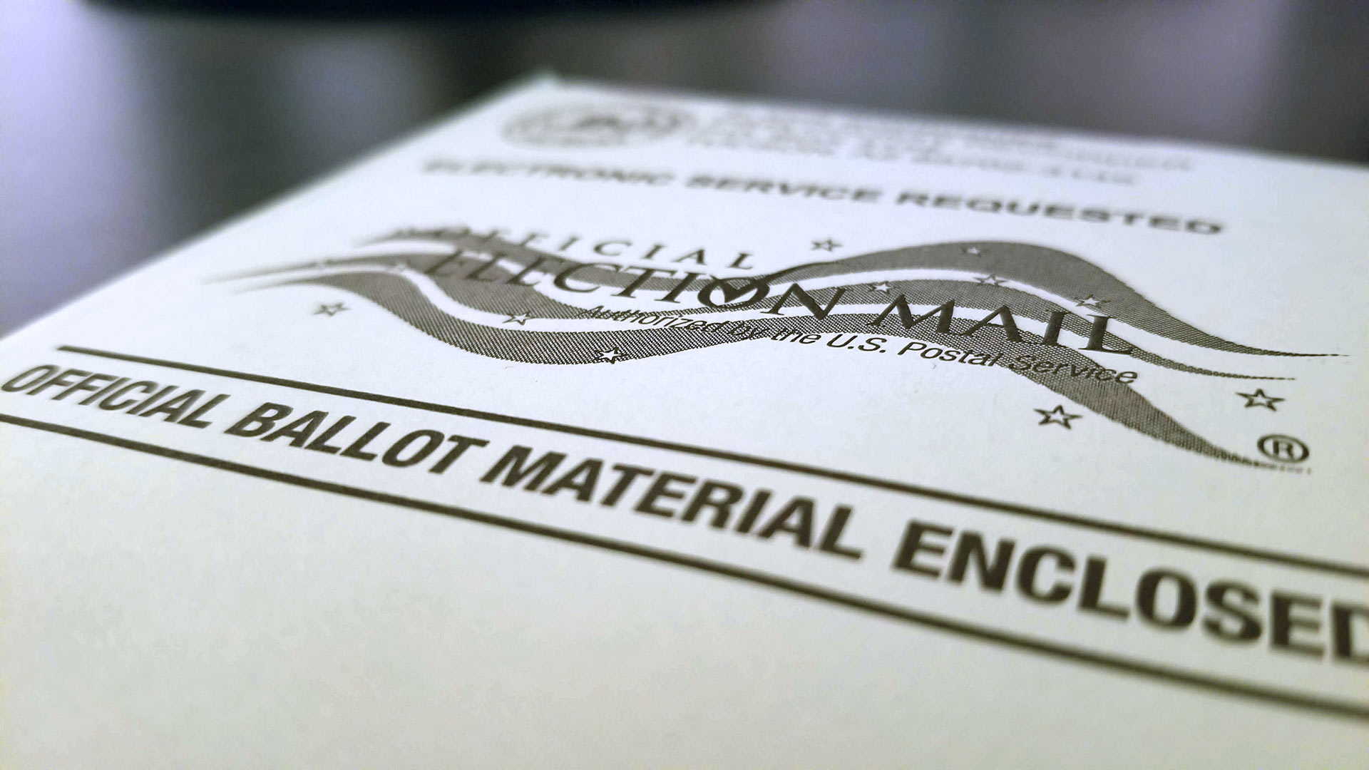 A Pima County vote-by-mail envelope.