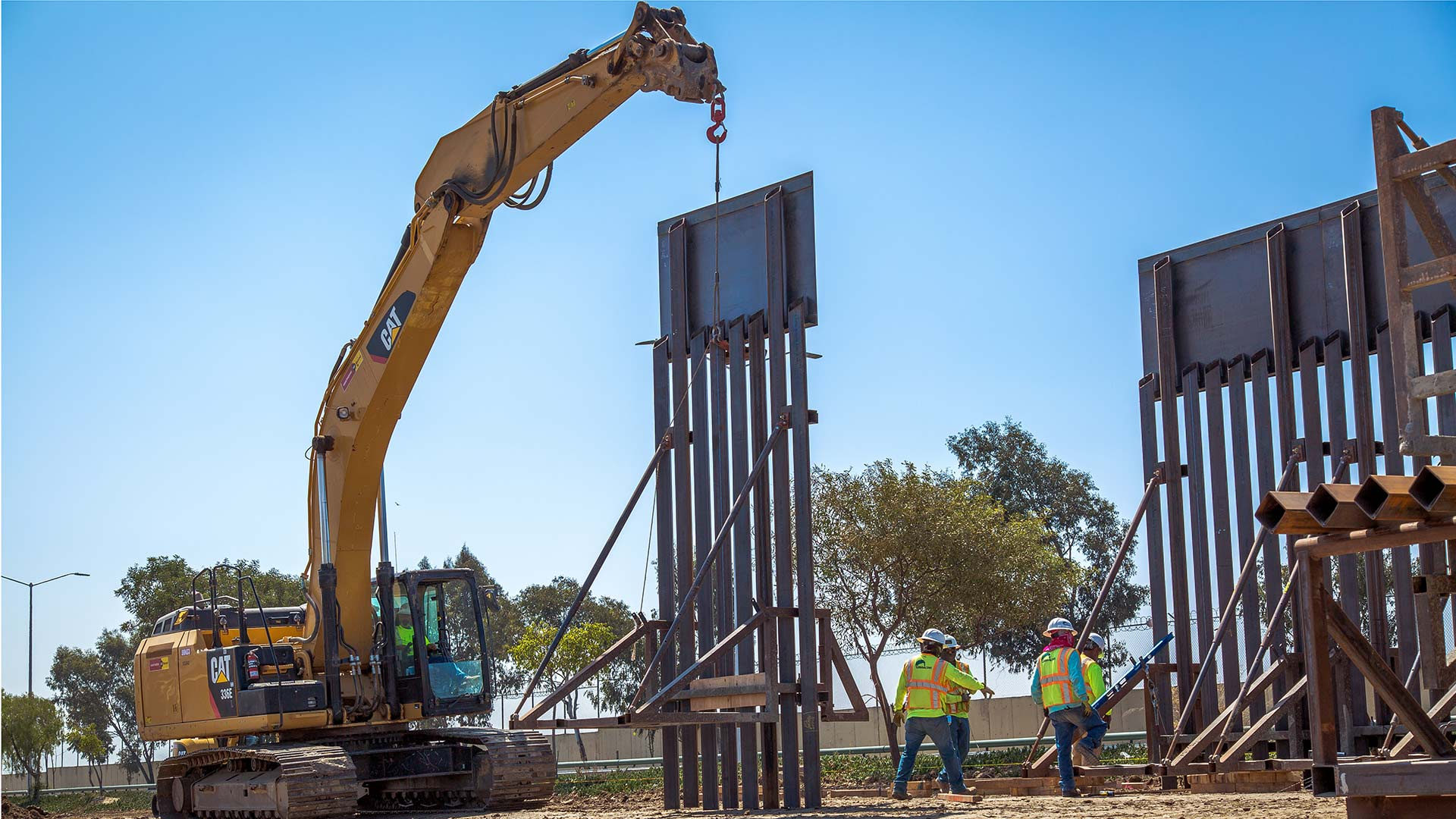 New border barrier construction in the Chula Vista Area of Responsibility in June 2018, according to Customs and Border Protection.