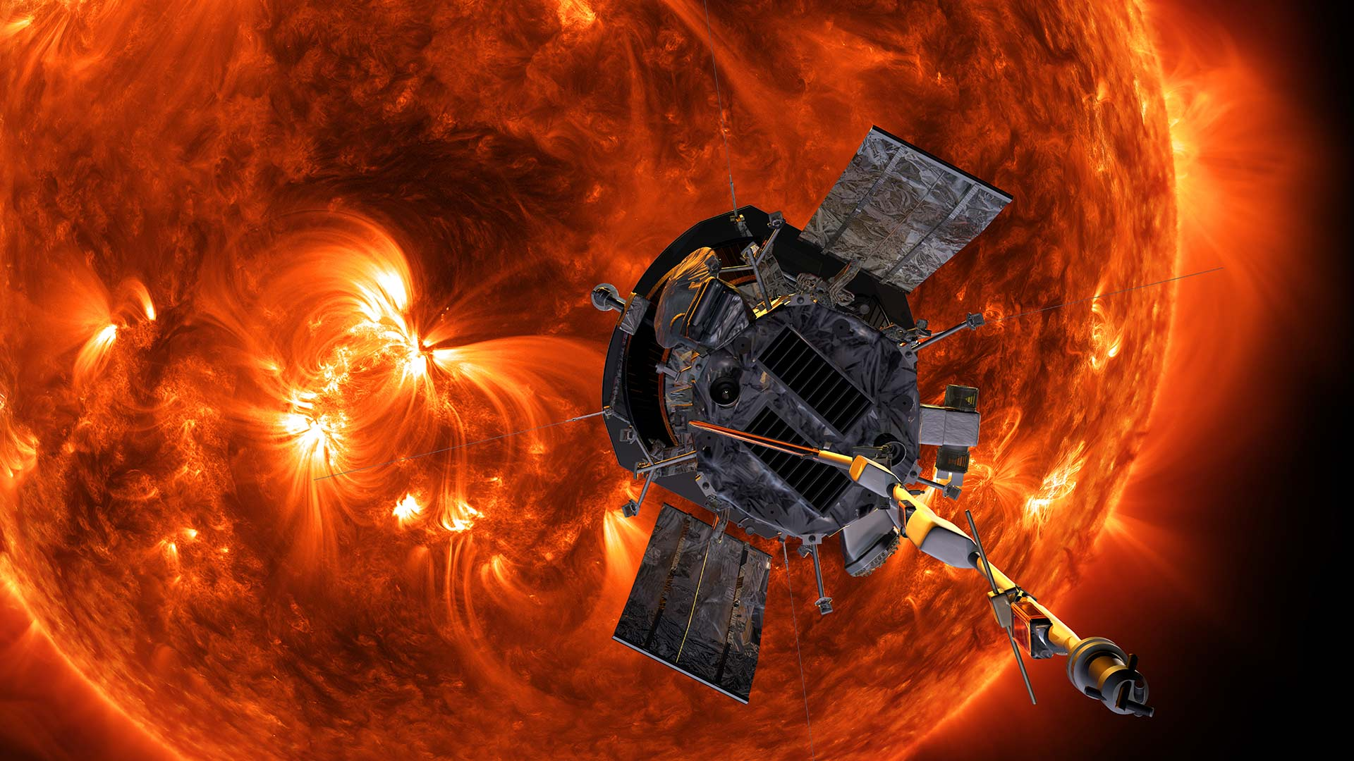 An illustration of NASA's Parker Solar Probe.