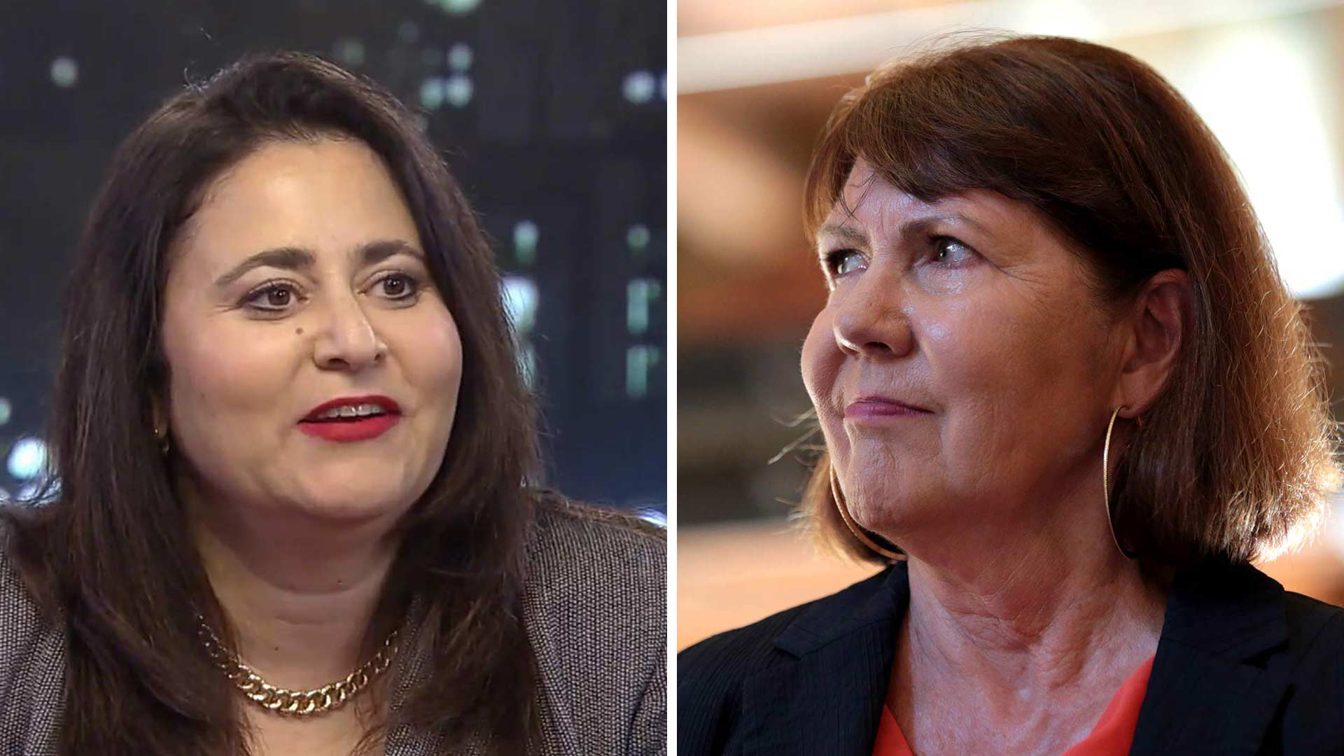 Lea Marquez Peterson, left, and Ann Kirkpatrick