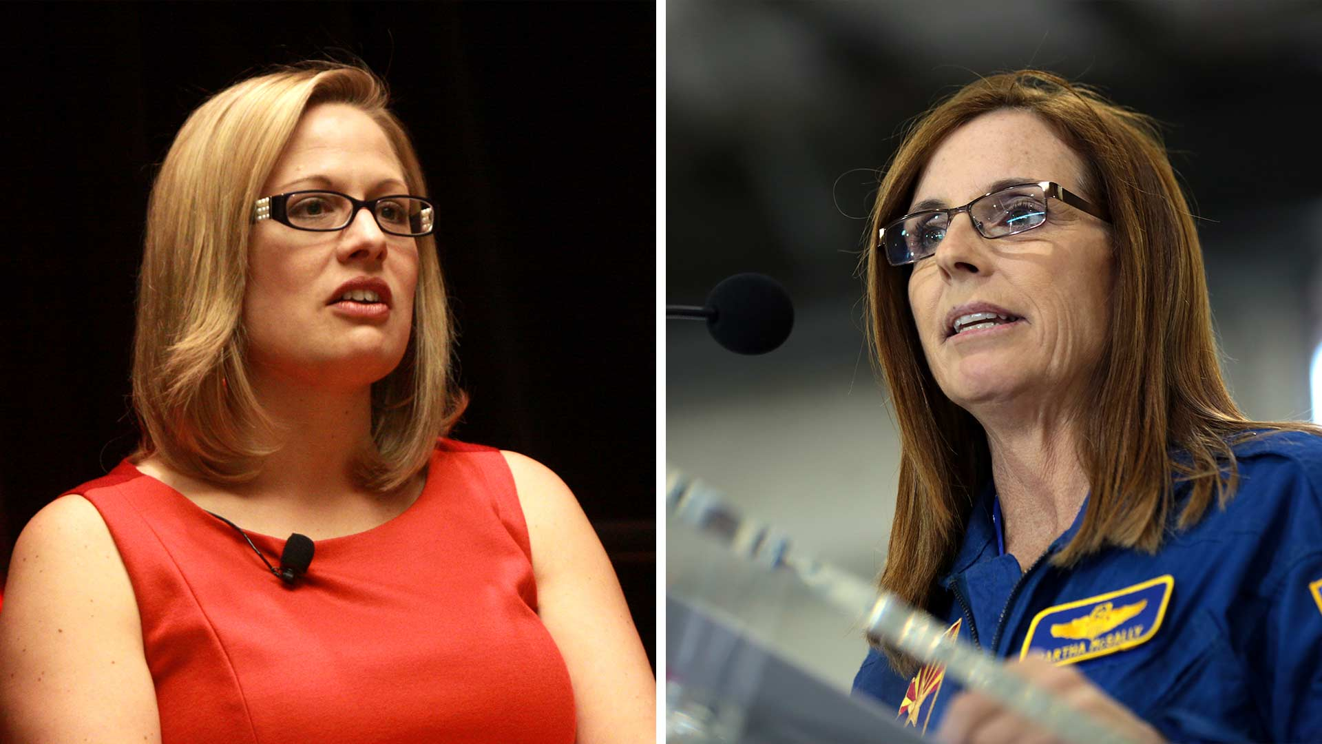 Kyrsten Sinema, left, and Martha McSally.