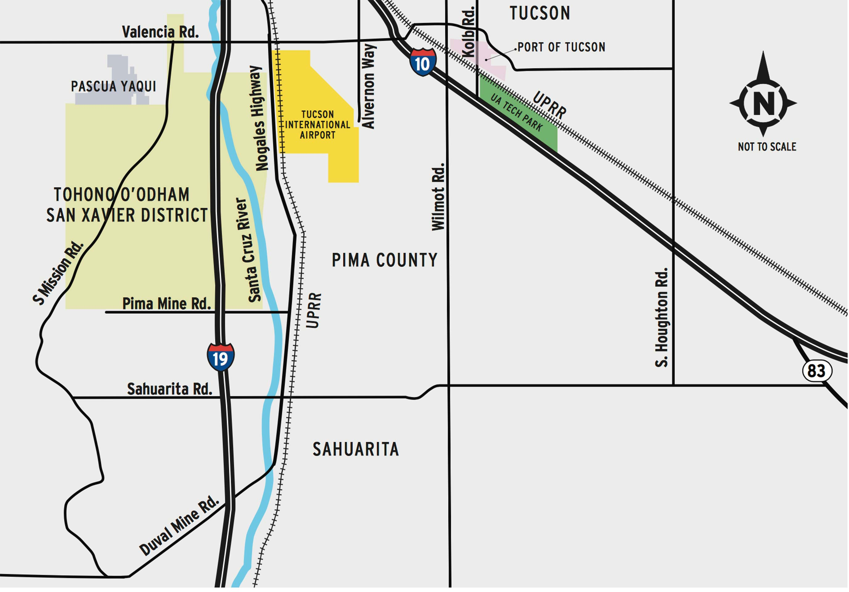ADOT Seeks Public Opinion on Proposed Sonoran Corridor - AZPM on indot state map, tdot state map, caltrans state map,