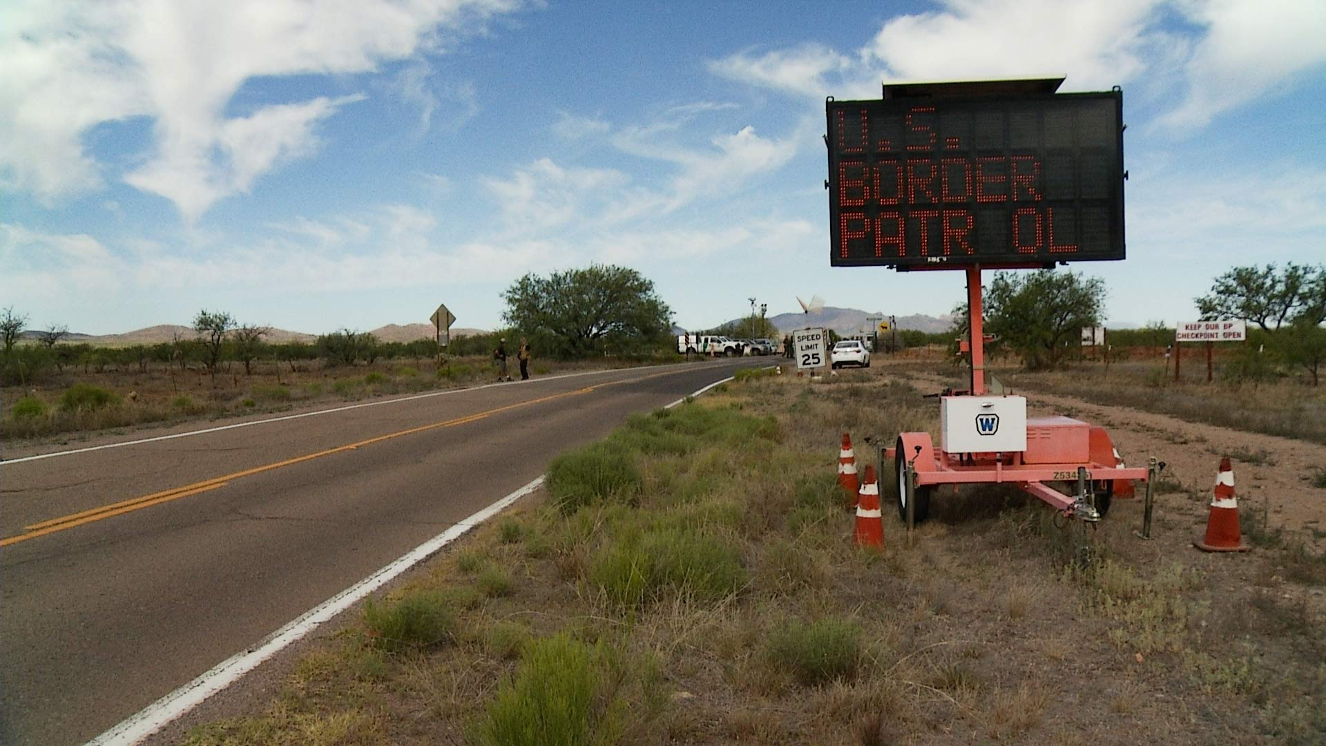 Border Patrol checkpoint near Arivaca, Arizona, 2015.