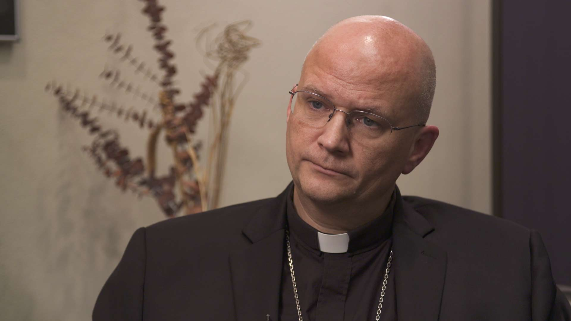 Bishop of the Diocese of Tucson Edward Joseph Weisenburger, in a September 2018 studio interview at Arizona Public Media.