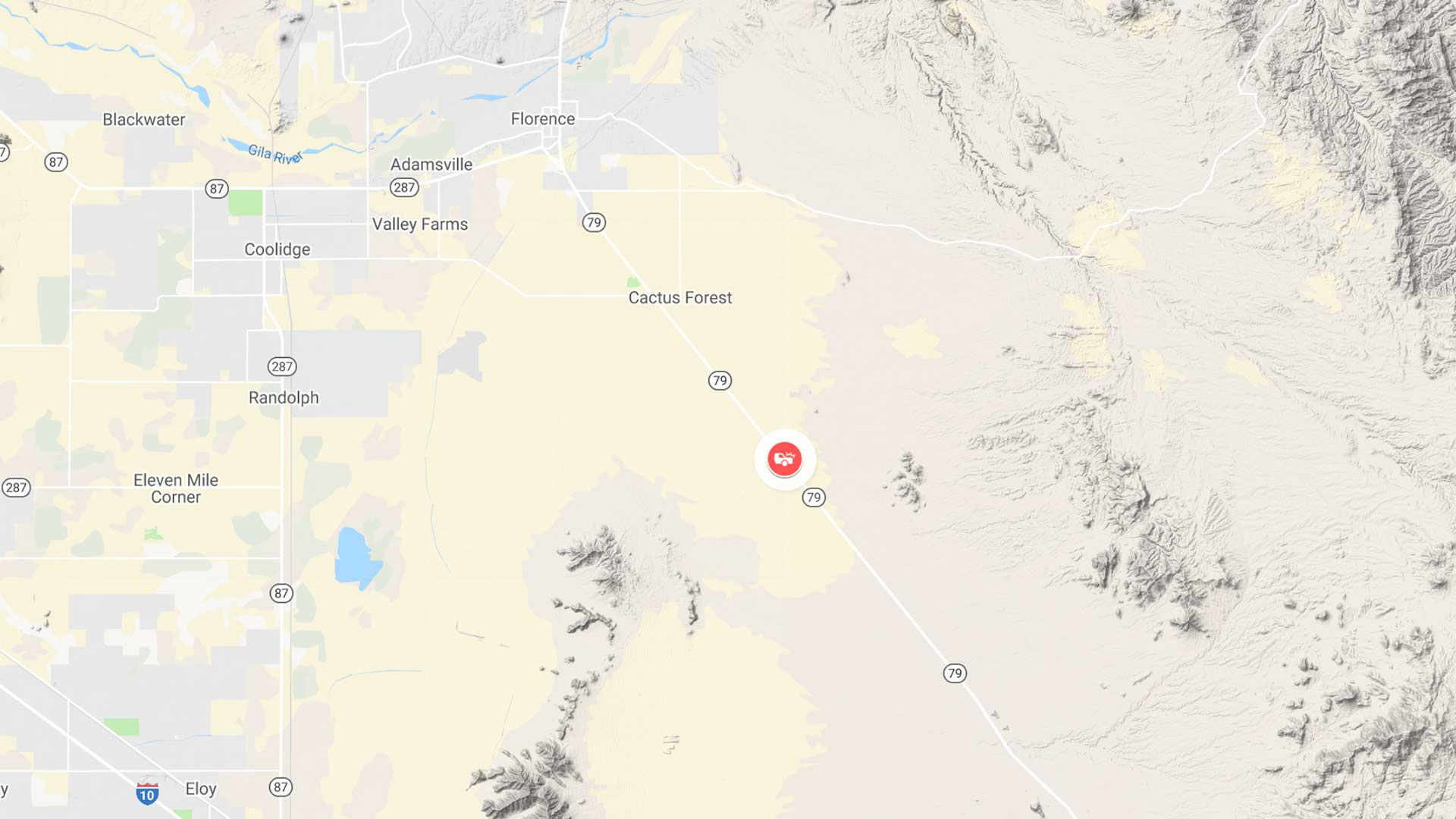 Approximate location of a Sept. 20 collision that killed nine people, according to the Arizona Department of Public Safety.