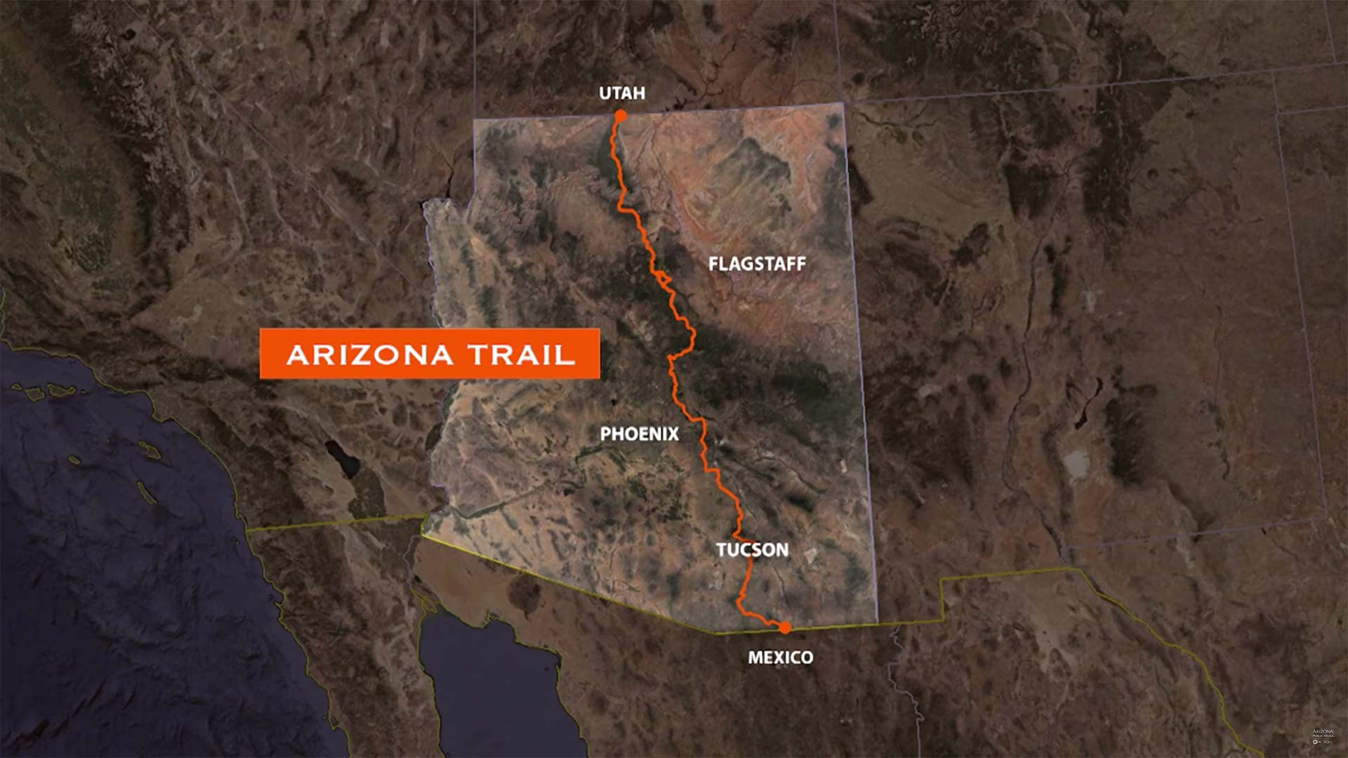 Arizona Trail Map hero