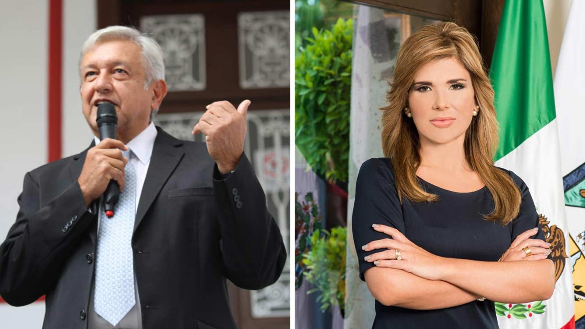 Mexican President-elect Andrés Manuel López Obrador and Sonoran Gov. Claudia Pavlovich.