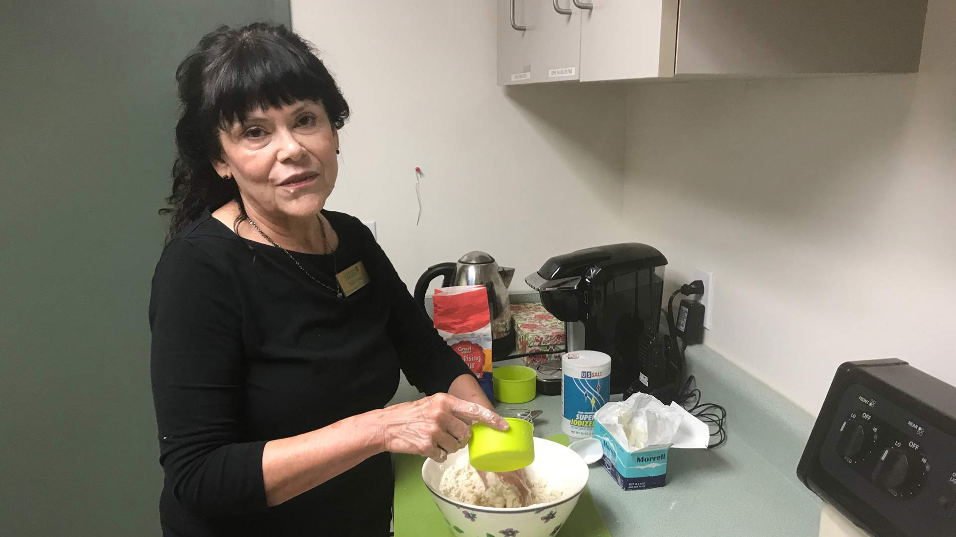 Stella Lopez teaches Tortilla Making from Scratch.  August 31, 2018 Tucson Botanical Gardens