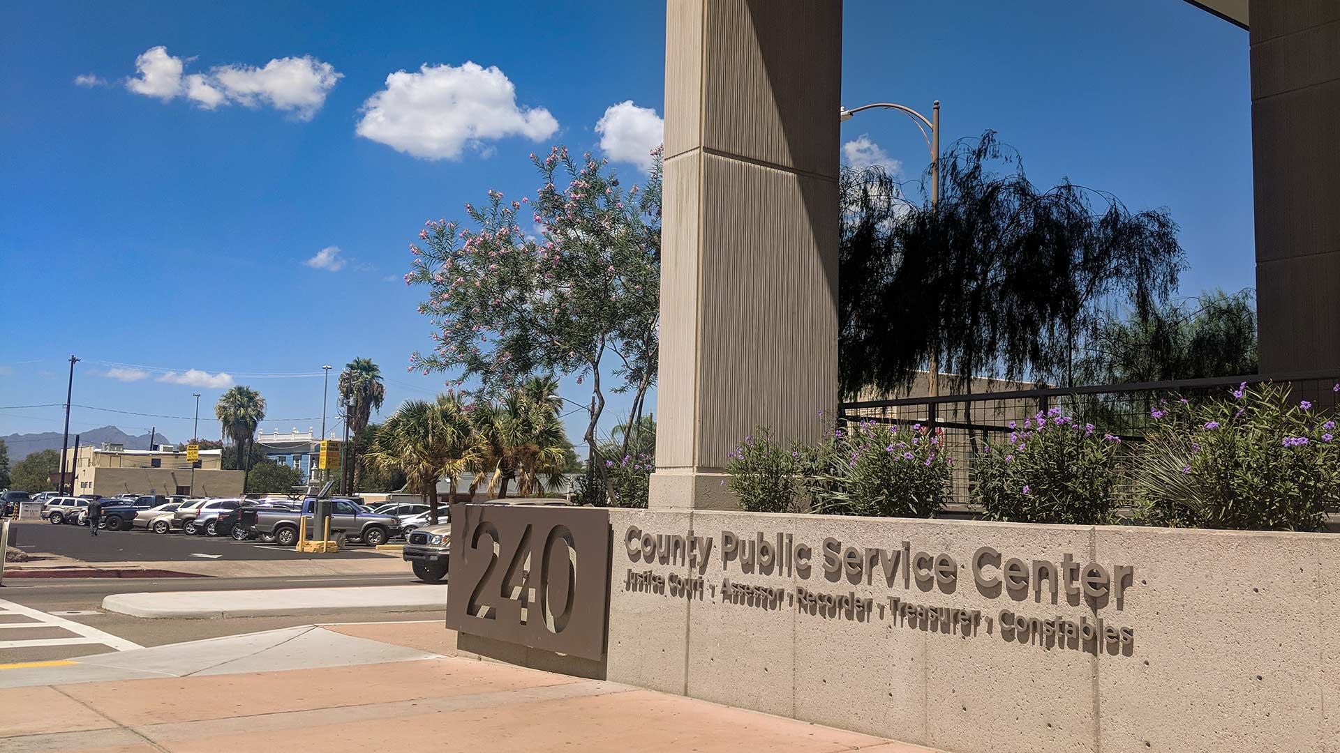 The Pima County Services Building in downtown Tucson.