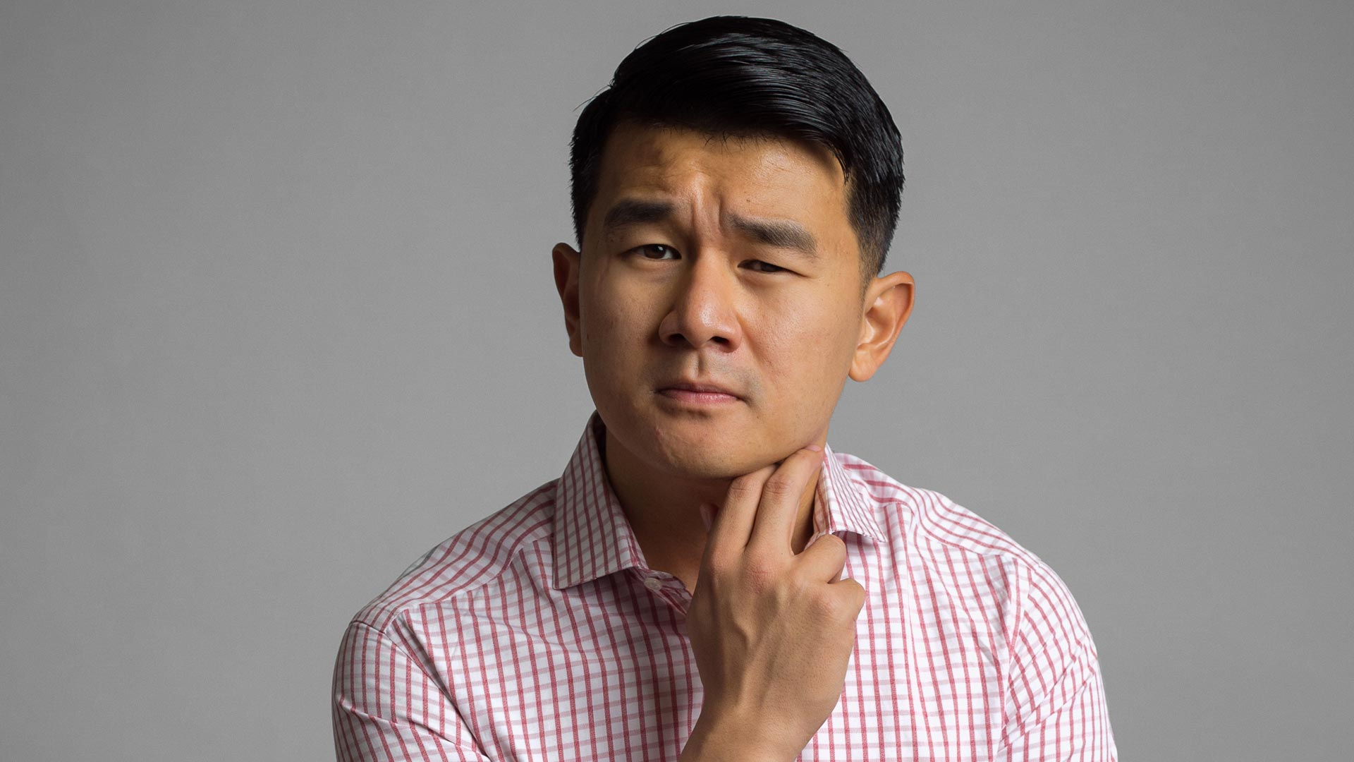 "Actor, comic, ""Daily Show"" reporter and former lawyer Ronny Chieng can even rock a shirt that might have once been a tablecloth."
