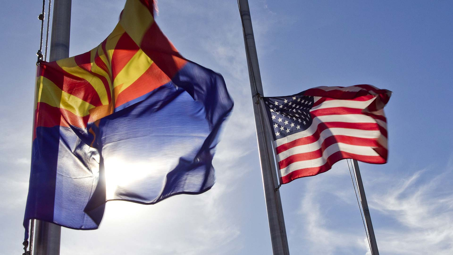 Gov. Doug Ducey ordered flags to be lowered to half-staff following the death of police officer Clayton Townsend.